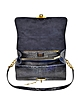 Dark Blue Python Satchel Bag w/Detachable Shoulder Strap - Ghibli