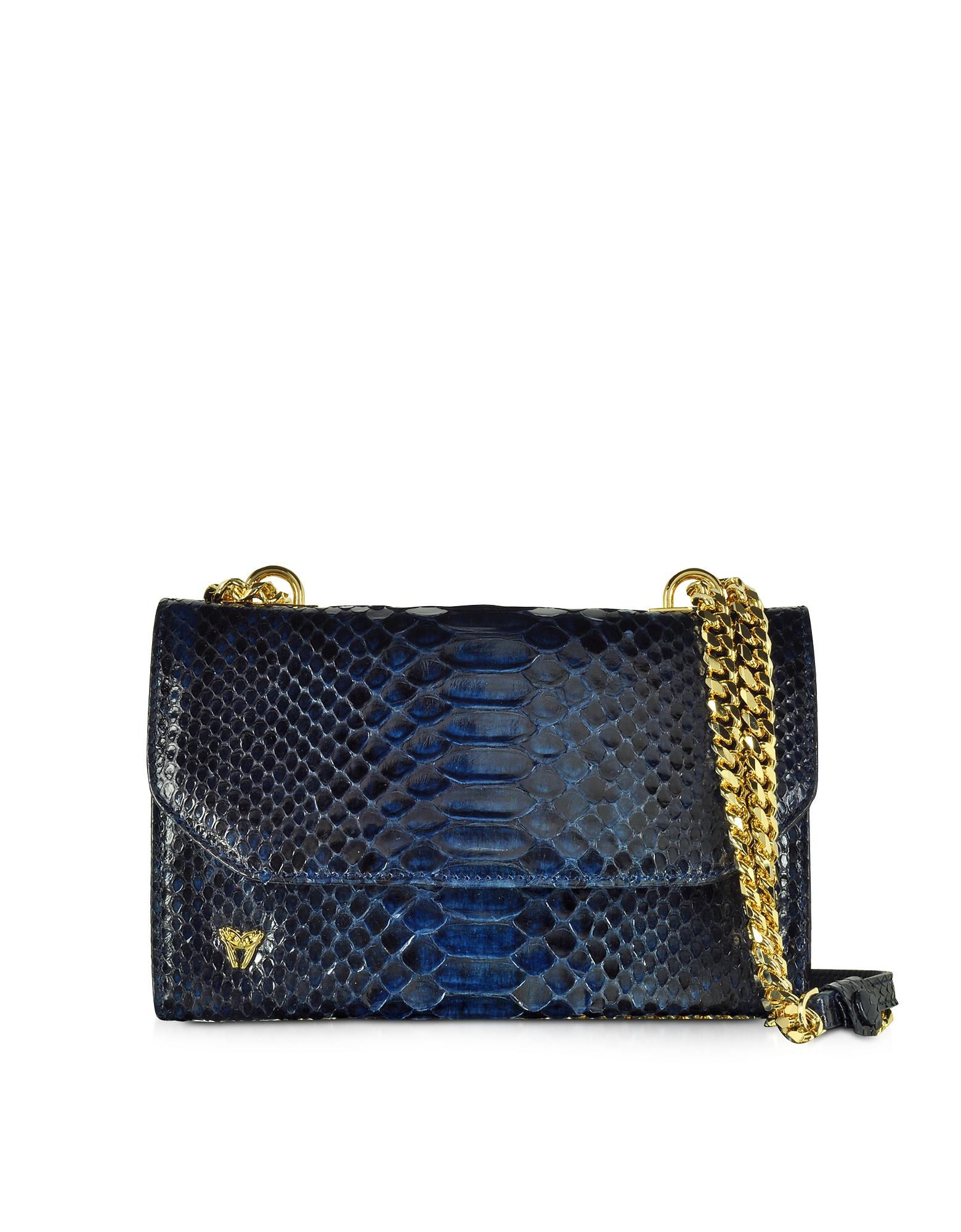 Ghibli Handbags, Small Phyton Leather Shoulder Bag