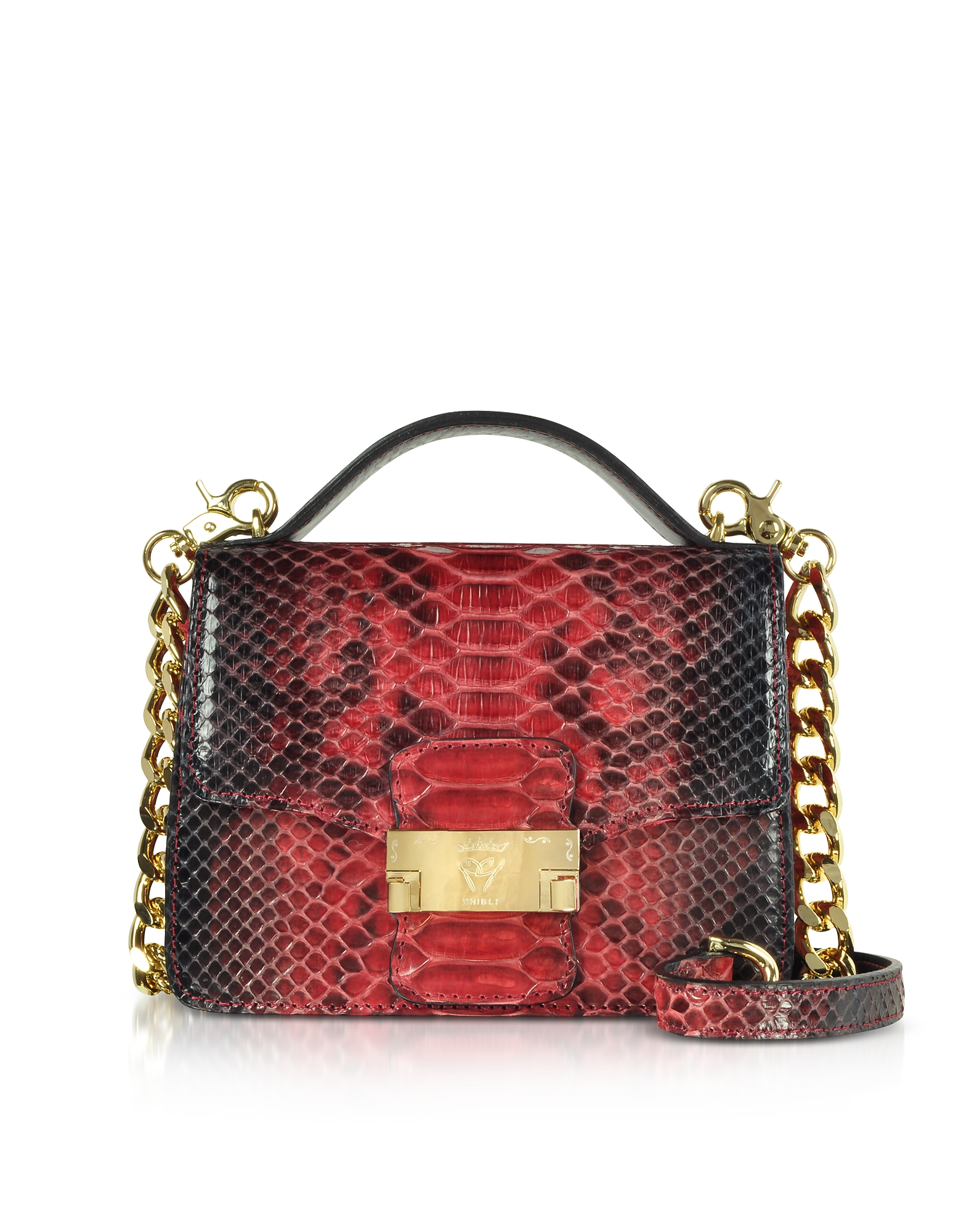Ghibli Handbags, Python Leather Crossbody Bag