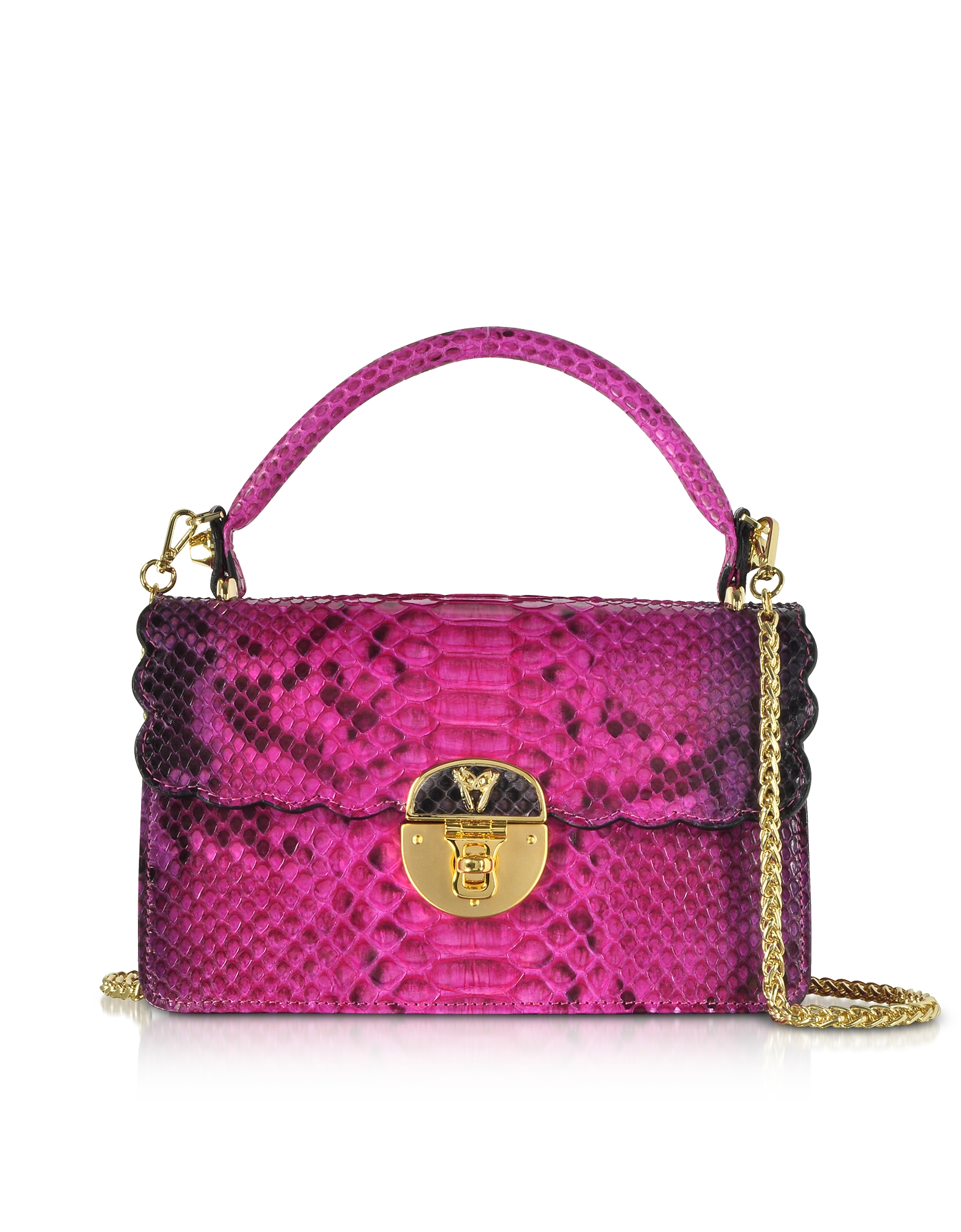 Ghibli Handbags, Python Leather Top Handle Satchel bag
