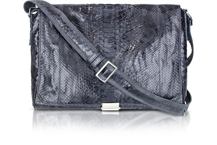 Dark Blue Python Messenger Bag - Ghibli