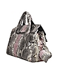 Pink and Gray Large Python Leather Tote Bag w/ Bow - Ghibli