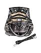 Black and Grey Python Leather  Drawstring Bucket Bag - Ghibli