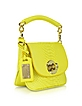 Mini Yellow Python Leather Shoulder Bag - Ghibli