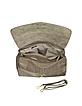 Stone Python Leather Satchel Bag - Ghibli