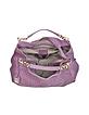 Purple Ostrich Leather Hobo Bag - Ghibli