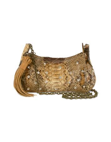 Foto der Handtasche Ghibli Handtasche aus Pythonleder mit Schmuckkette