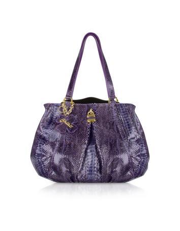Foto der Handtasche Ghibli Handtasche aus Pythonleder in purpurfarben