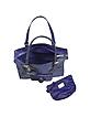 Violet Front Pocket Python Tote Bag w/Pouch - Ghibli