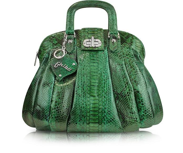 Jade Green Python Tote Bag - Ghibli