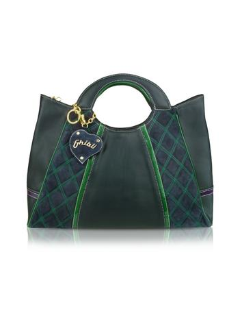 Ghibli Quilted Suede and Leather Tote Bag