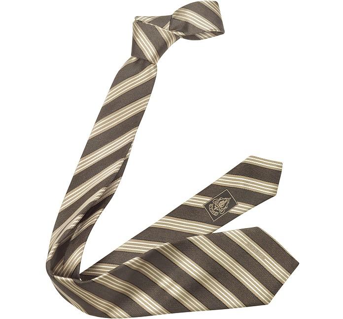 Striped Woven Silk Tie - Gucci
