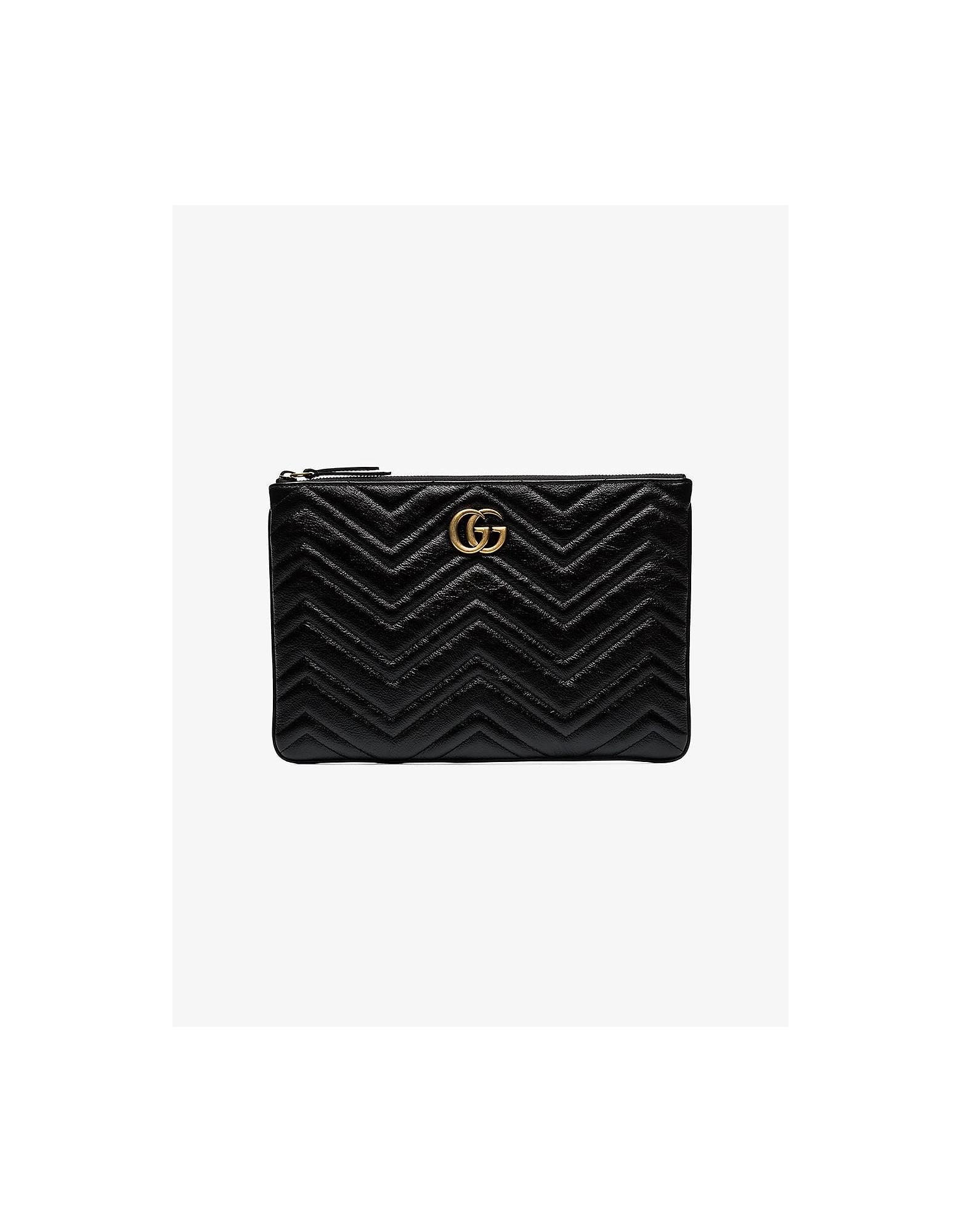 Gucci Designer Handbags, GG Marmont clutch