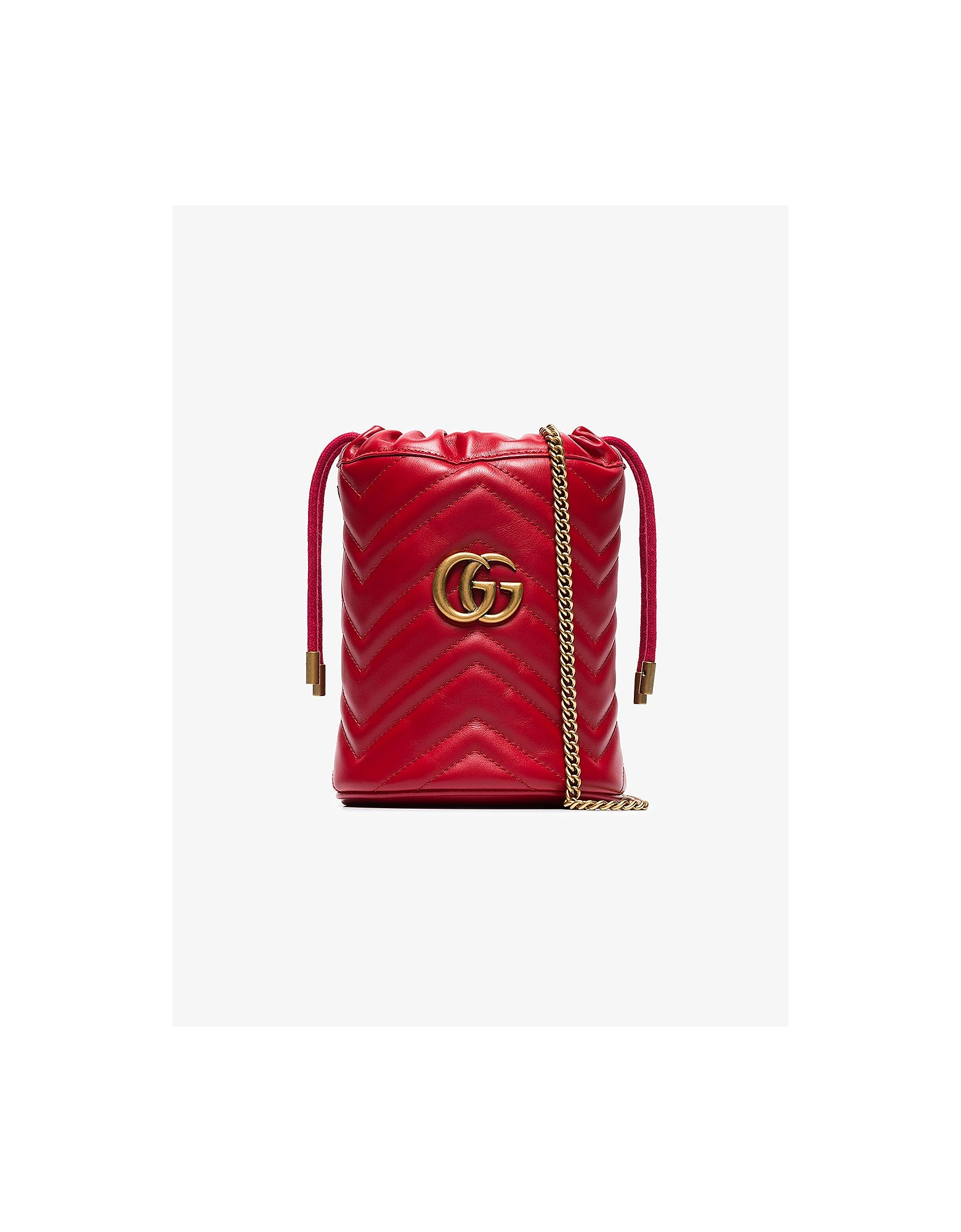Gucci Designer Handbags, GG Marmont mini bucket bag