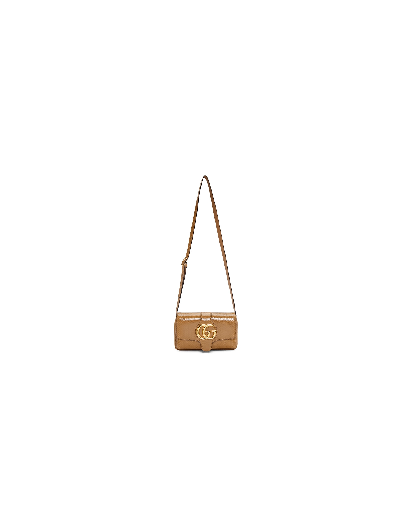 Gucci Designer Handbags, Taupe Snake Small Arli Shoulder Bag
