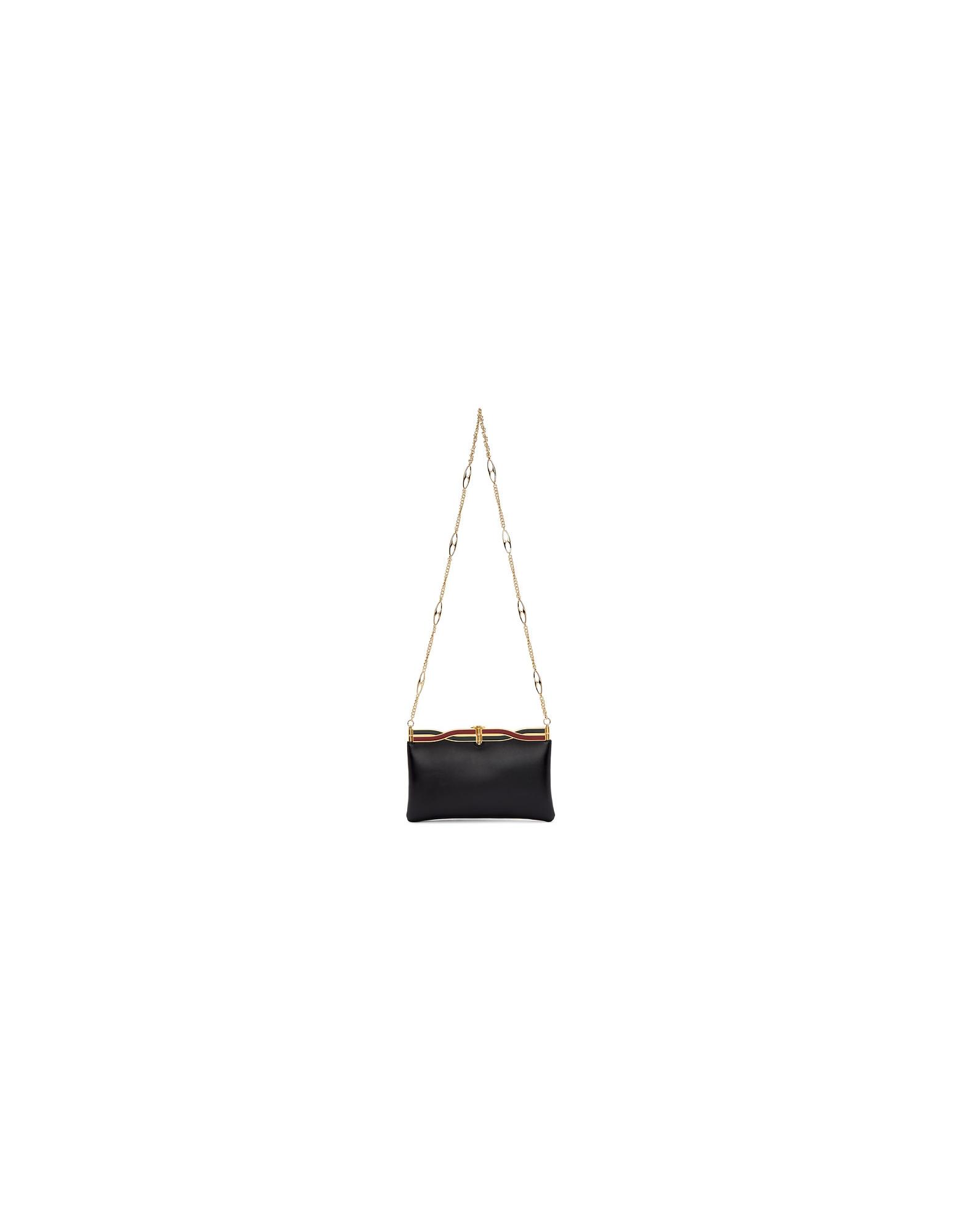 Gucci Designer Handbags, Black Broadway Evening Bag