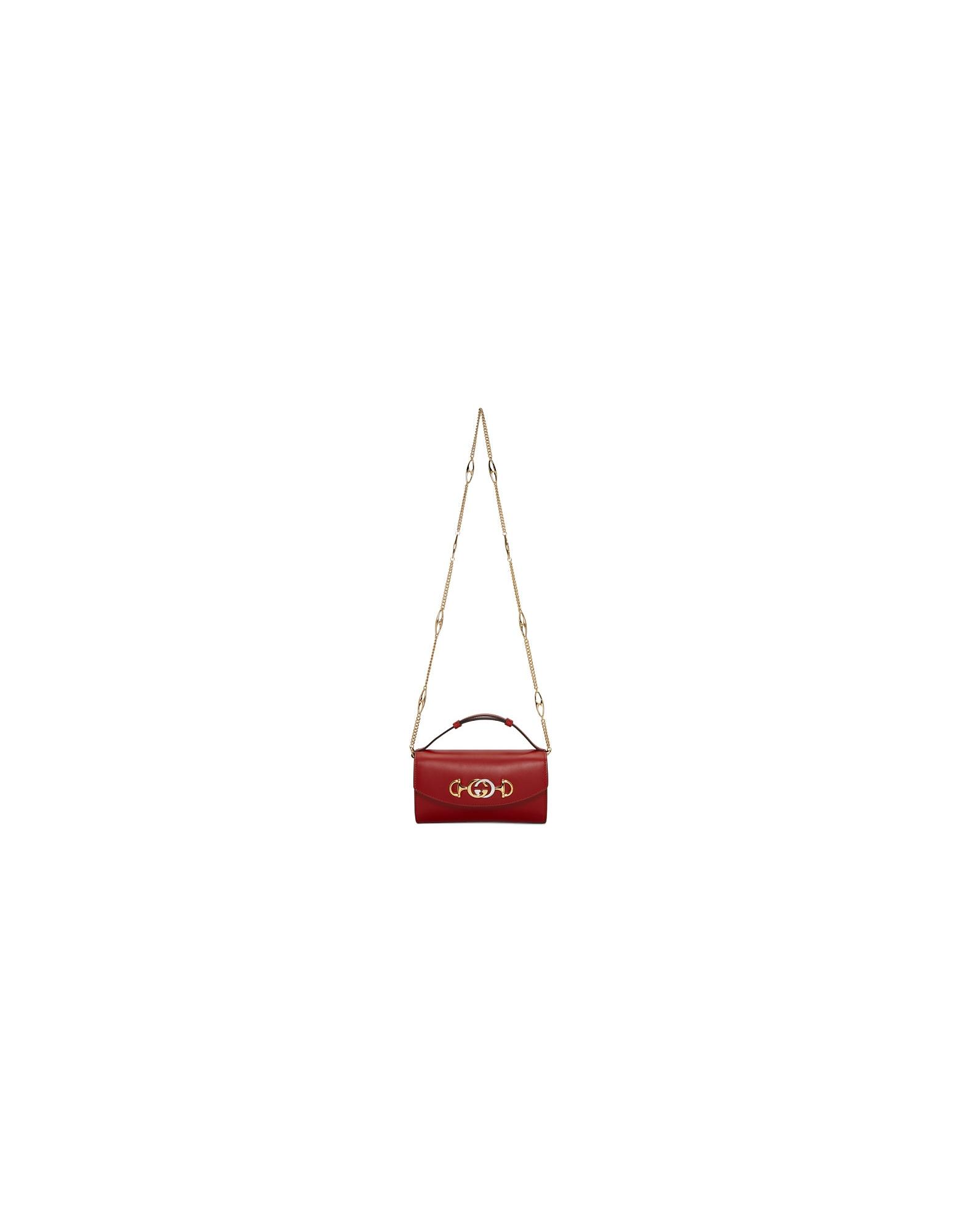 Gucci Designer Handbags, Red Mini Zumi Shibuya Shoulder Bag