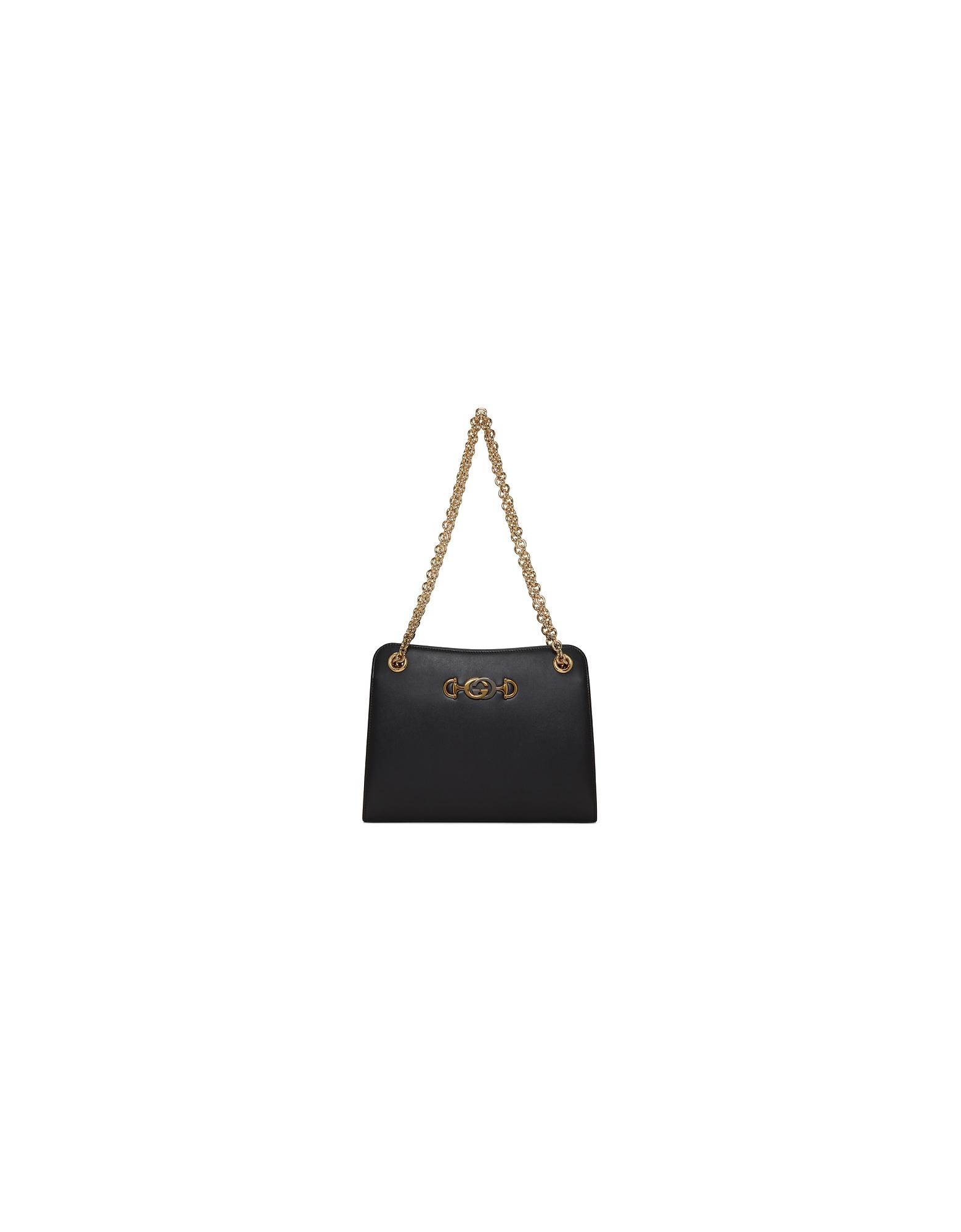 Gucci Designer Handbags, Black Zumi Shibuya Shoulder Bag
