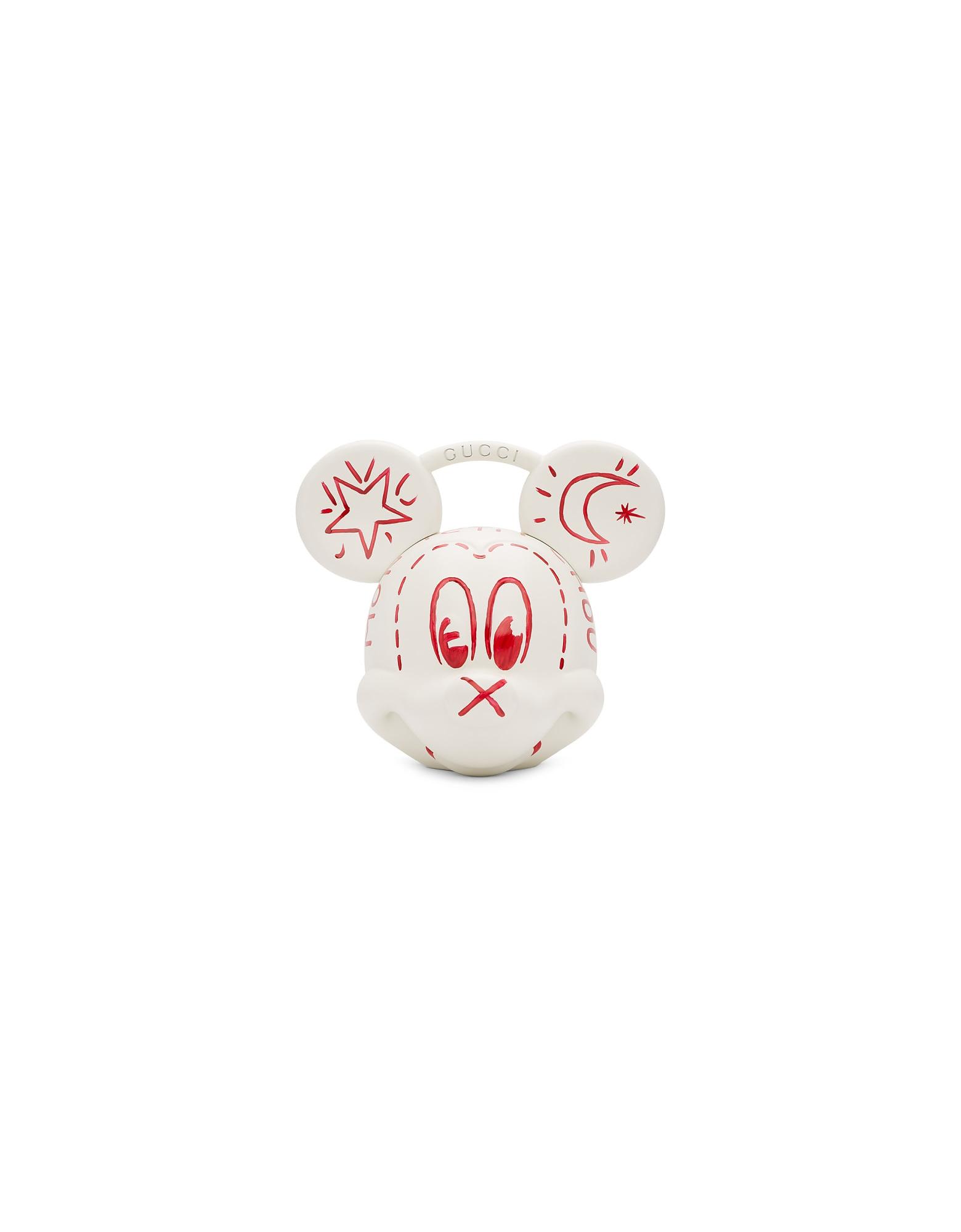Gucci Designer Handbags, White Disney Edition Mickey Mouse Top Handle Bag