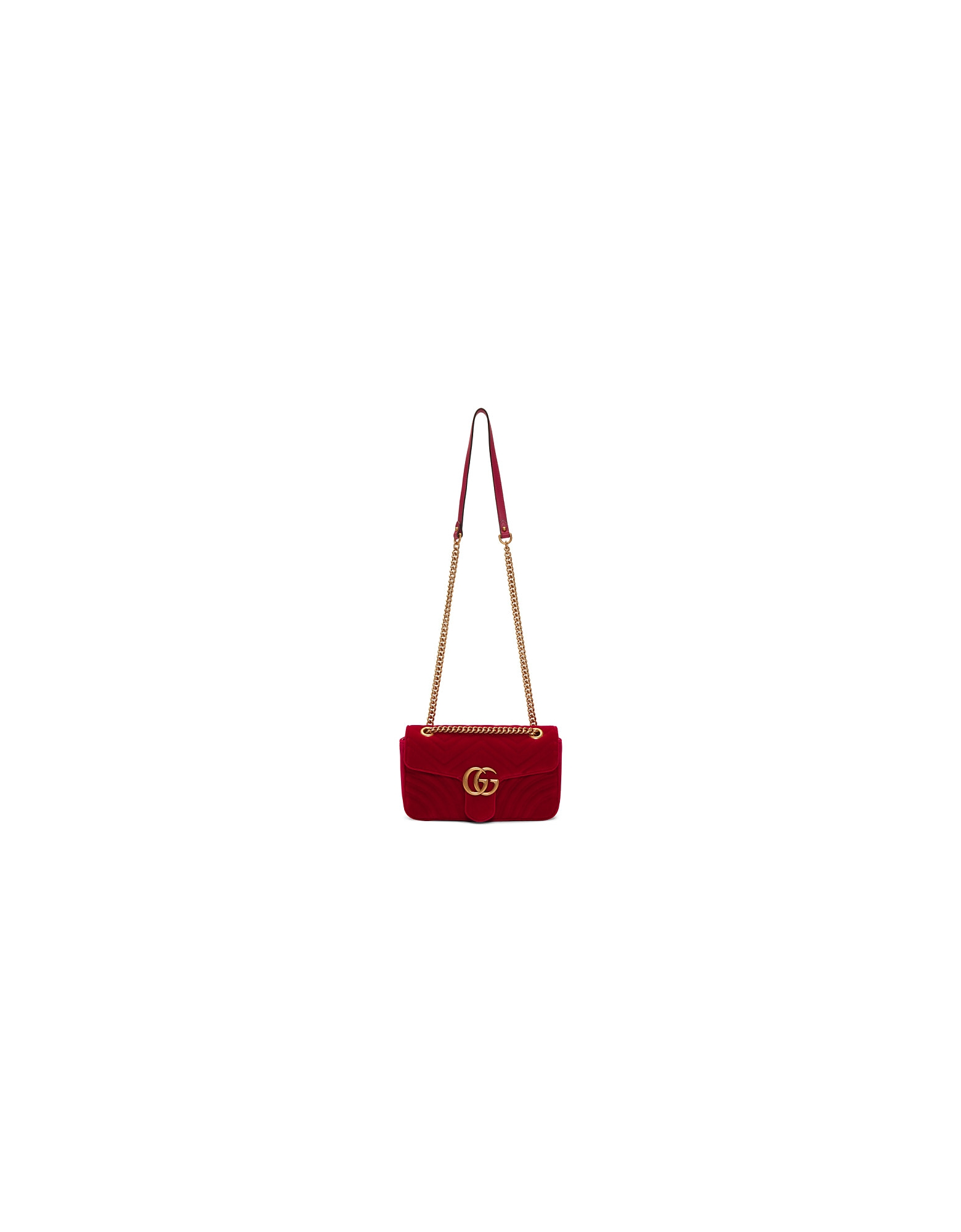 Gucci Designer Handbags, Red Velvet Small GG Marmont 2.0 Bag