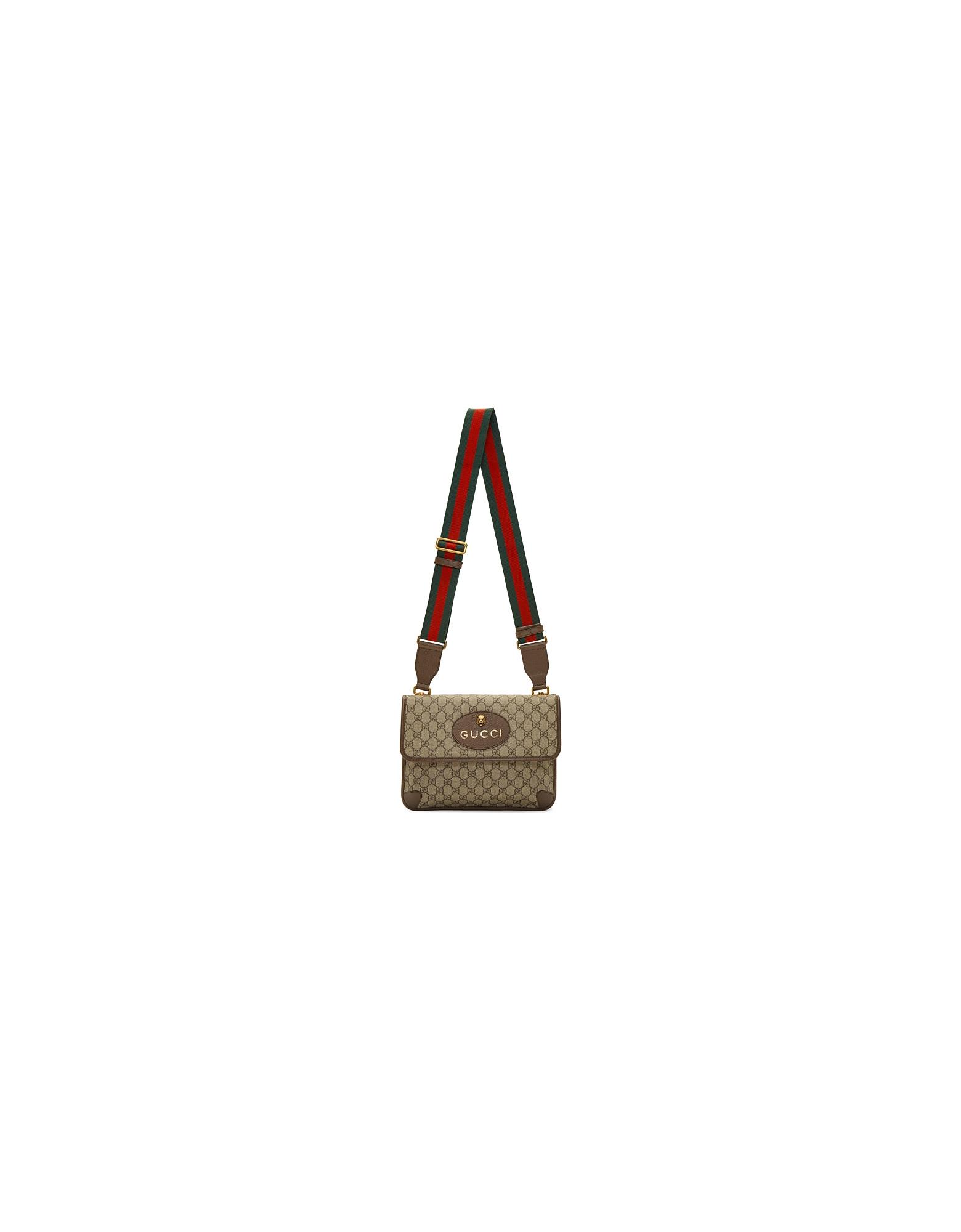 Gucci Designer Handbags, Beige Neo Vintage Foldover Bag