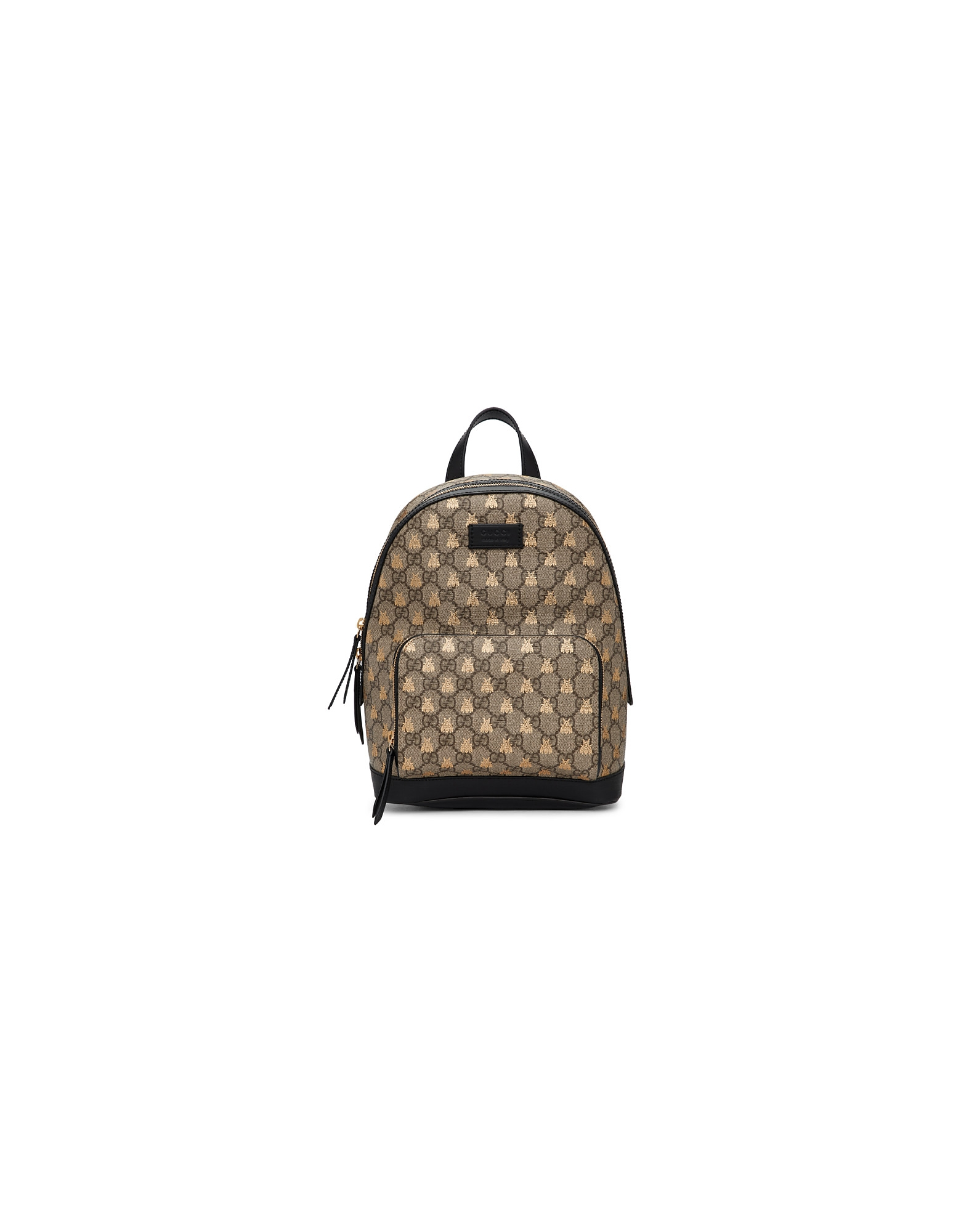 Gucci Designer Handbags, Beige GG Supreme Bestiary Backpack