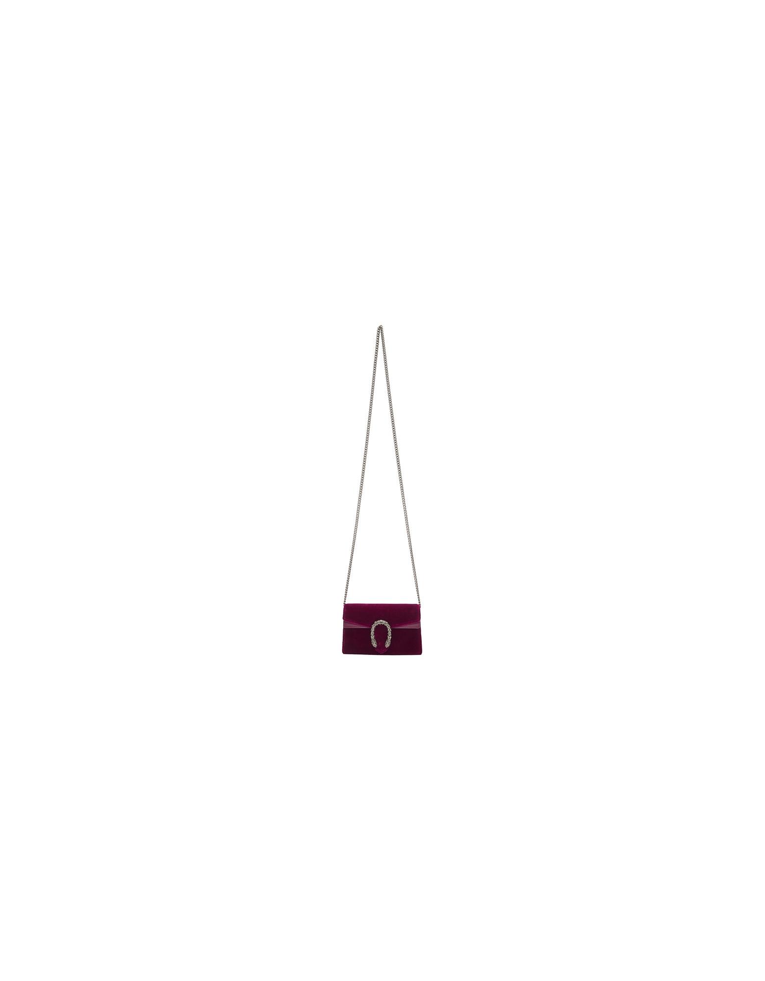 Gucci Designer Handbags, Purple Velvet Super Mini Dionysus Bag