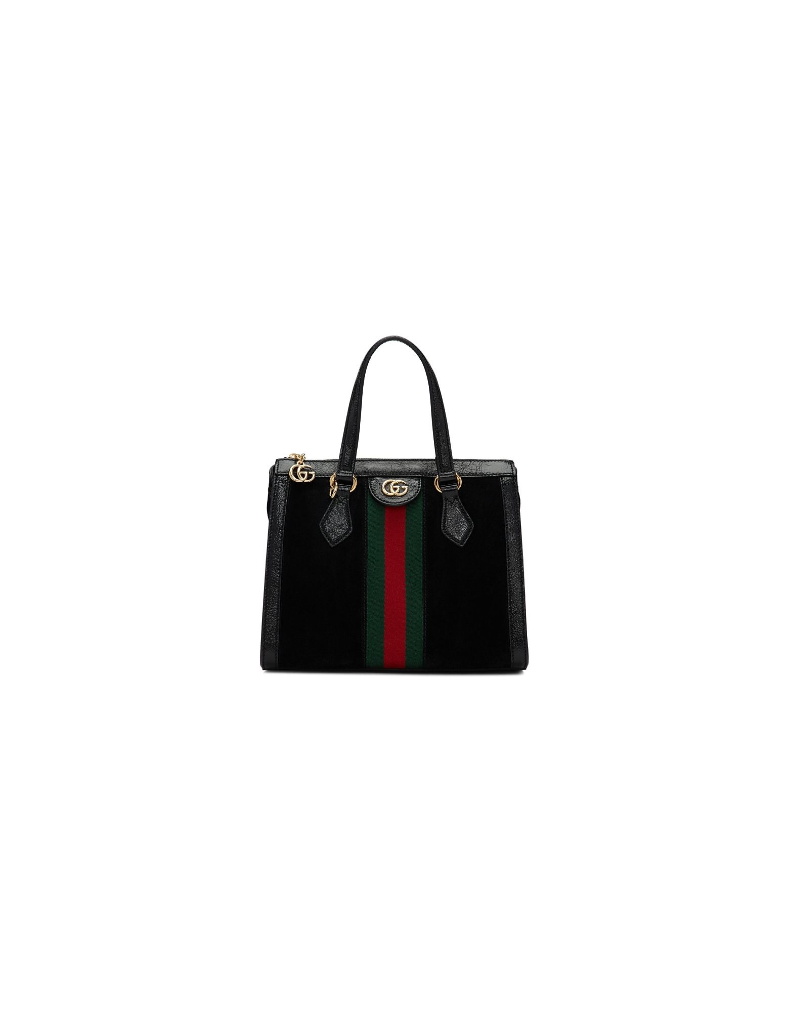 Gucci Designer Handbags, Black Small Suede Ophidia Bag