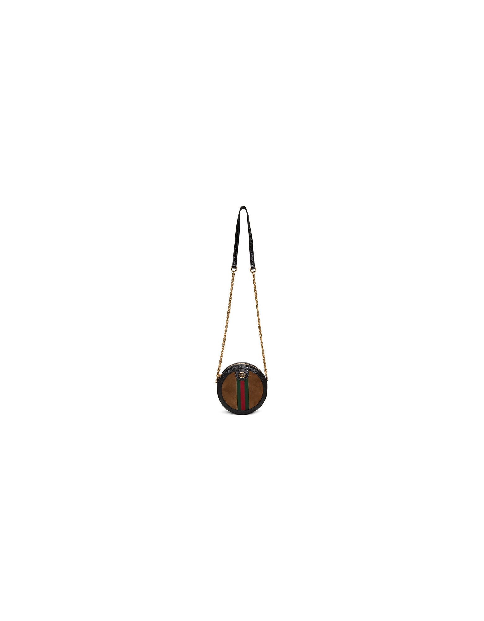 Gucci Designer Handbags, Brown Mini Ophidia Round Bag