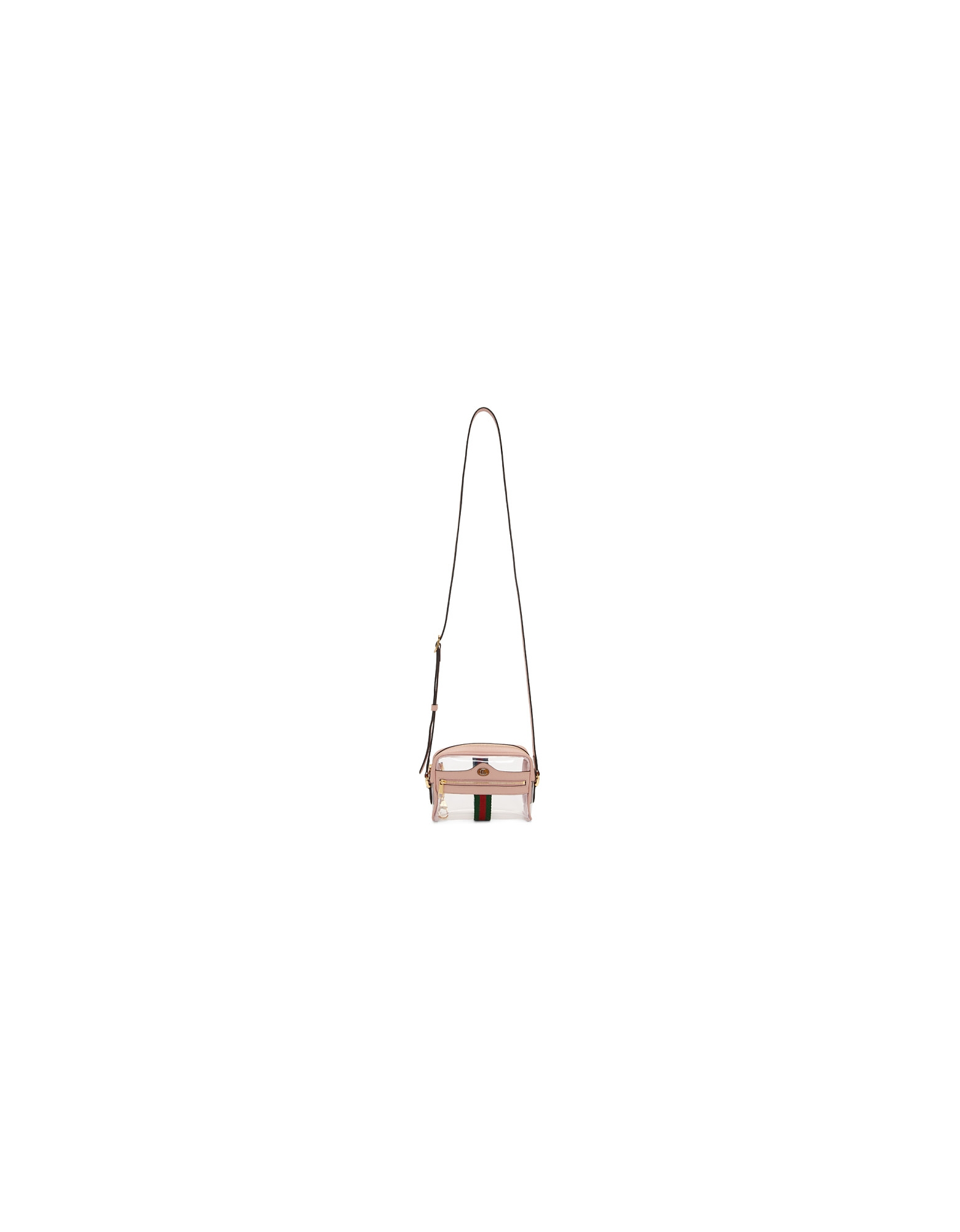 Gucci Designer Handbags, Transparent and Pink Ghost Ophidia Bag