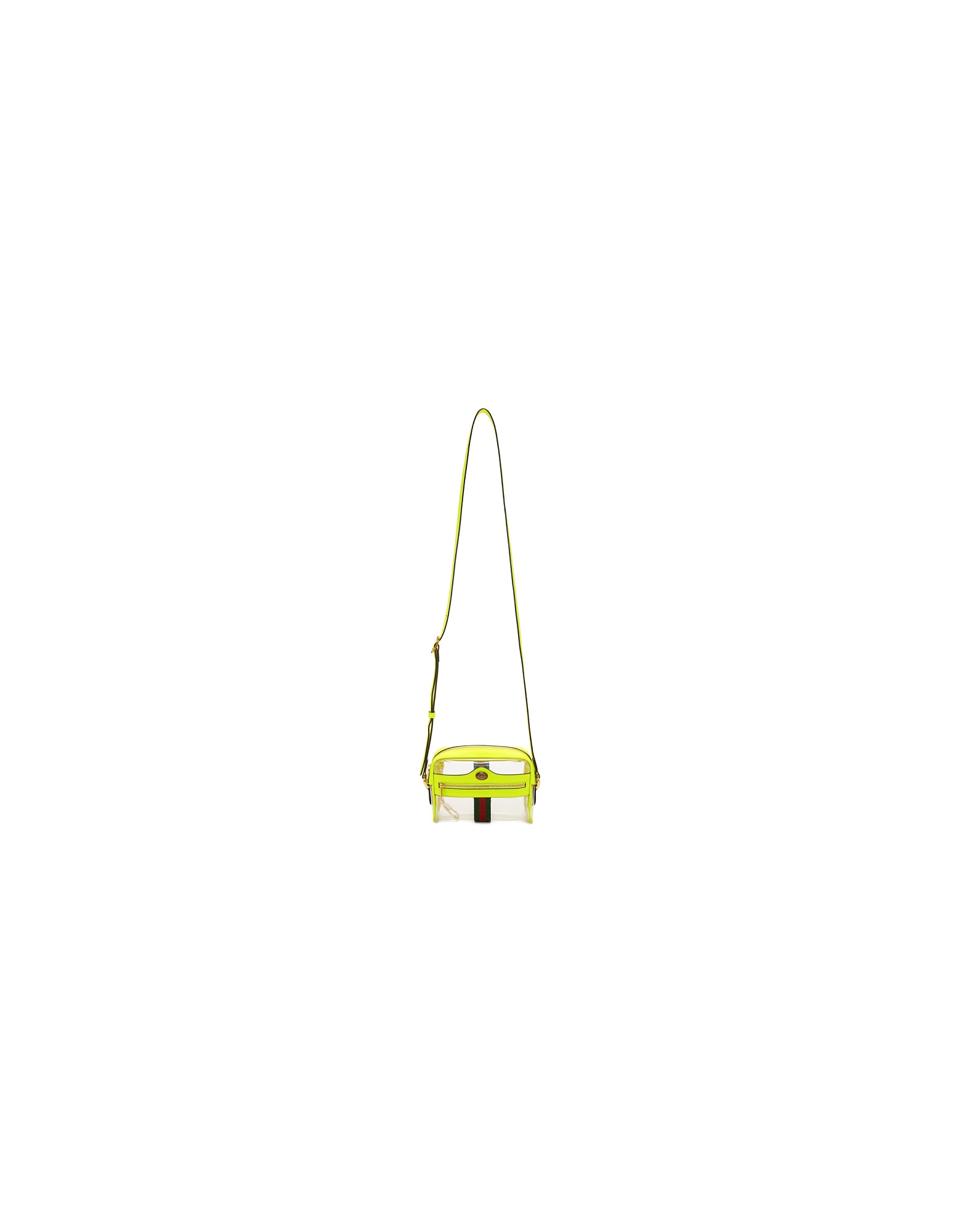 Gucci Designer Handbags, Transparent and Yellow Ghost Ophidia Bag