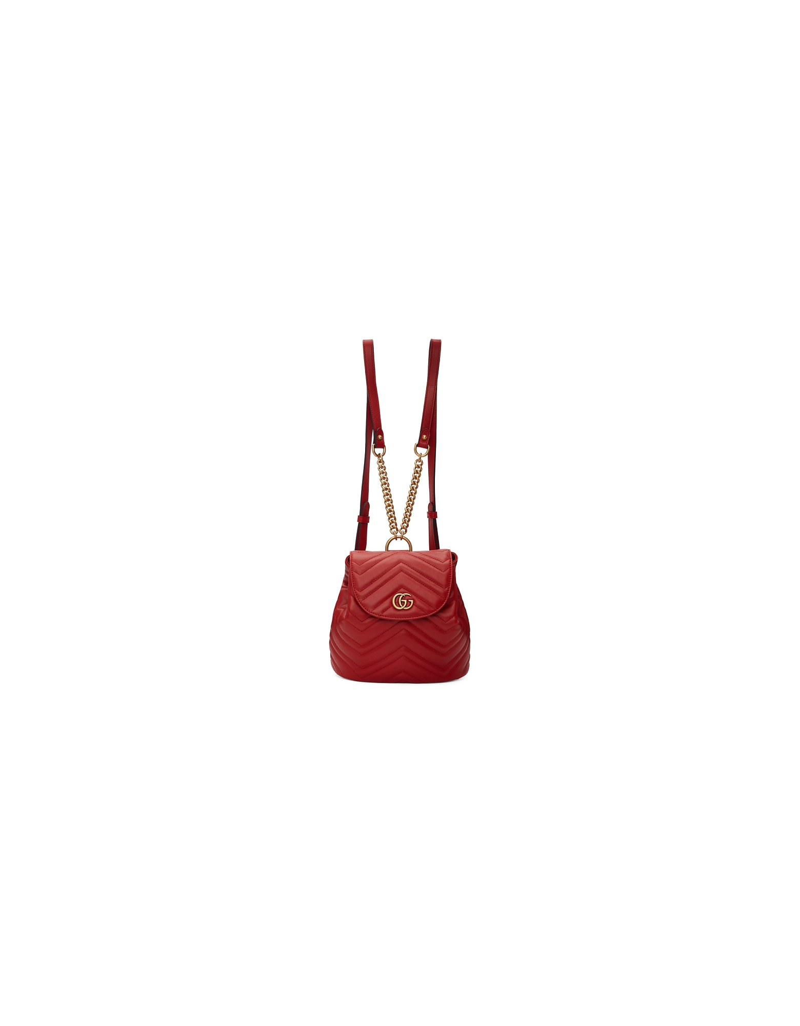Gucci Designer Handbags, Red Mini GG Marmont 2.0 Backpack