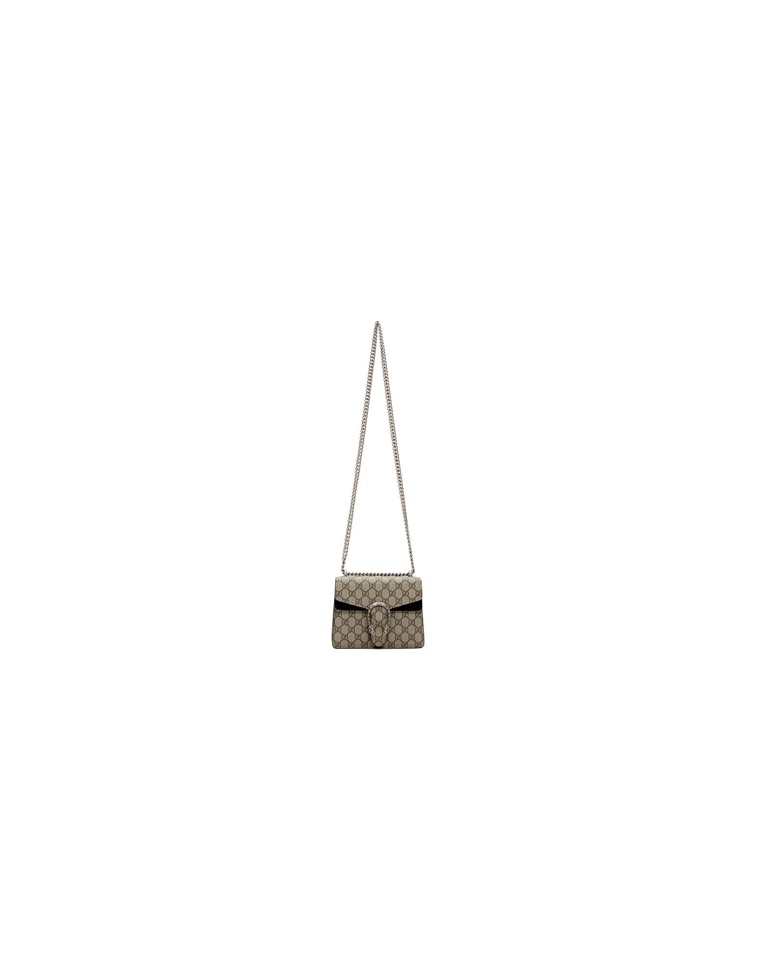 Gucci Designer Handbags, Beige Mini Dionysus Shoulder Bag