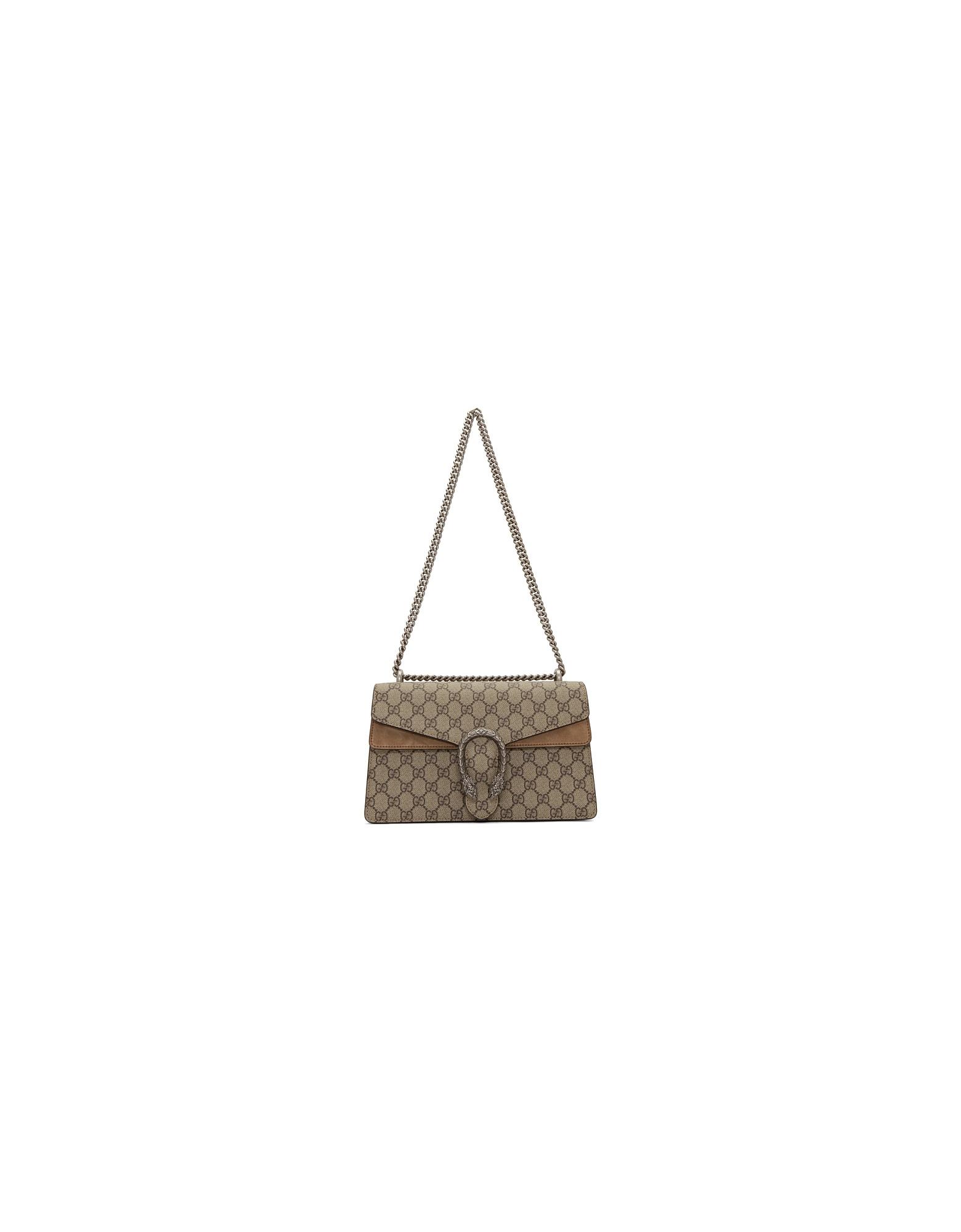 Gucci Designer Handbags, Beige Small Dionysus Shoulder Bag
