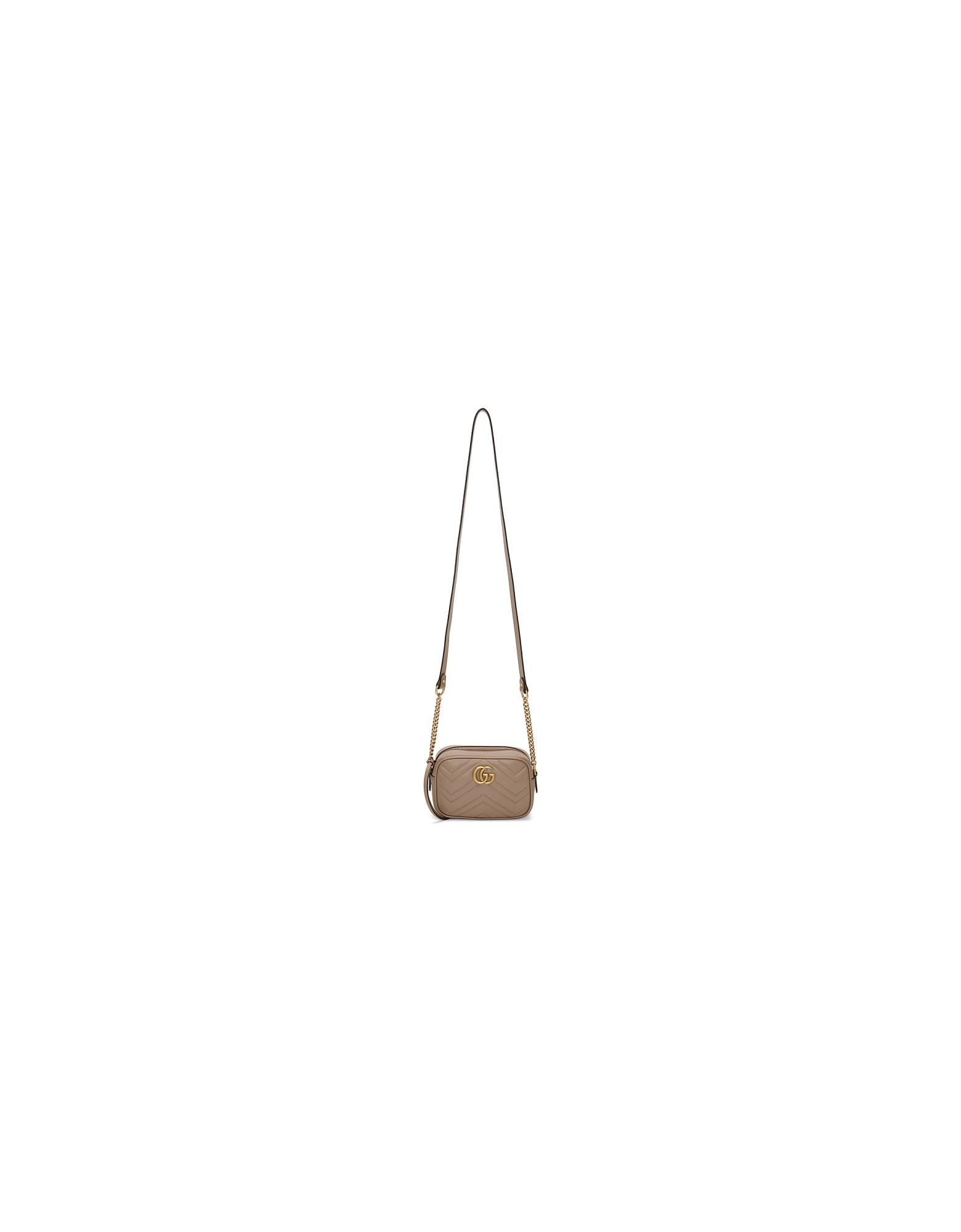 Gucci Designer Handbags, Pink GG Marmont Camera Bag