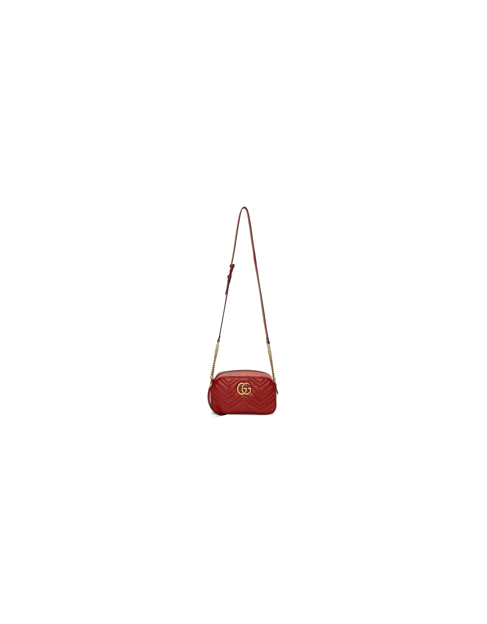 Gucci Designer Handbags, Red Small GG Marmont 2.0 Camera Bag