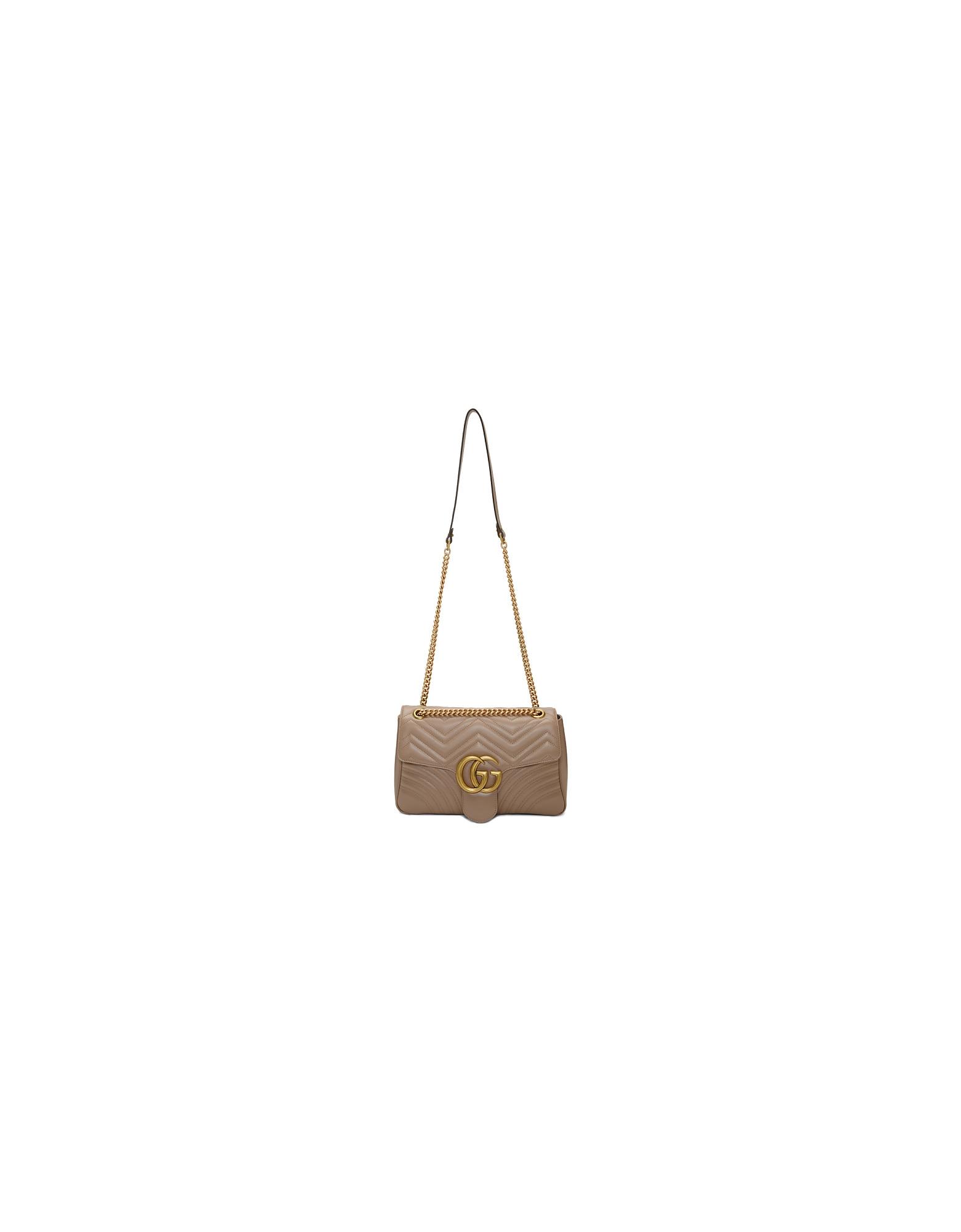 Gucci Designer Handbags, Pink Medium GG Marmont 2.0 Shoulder Bag