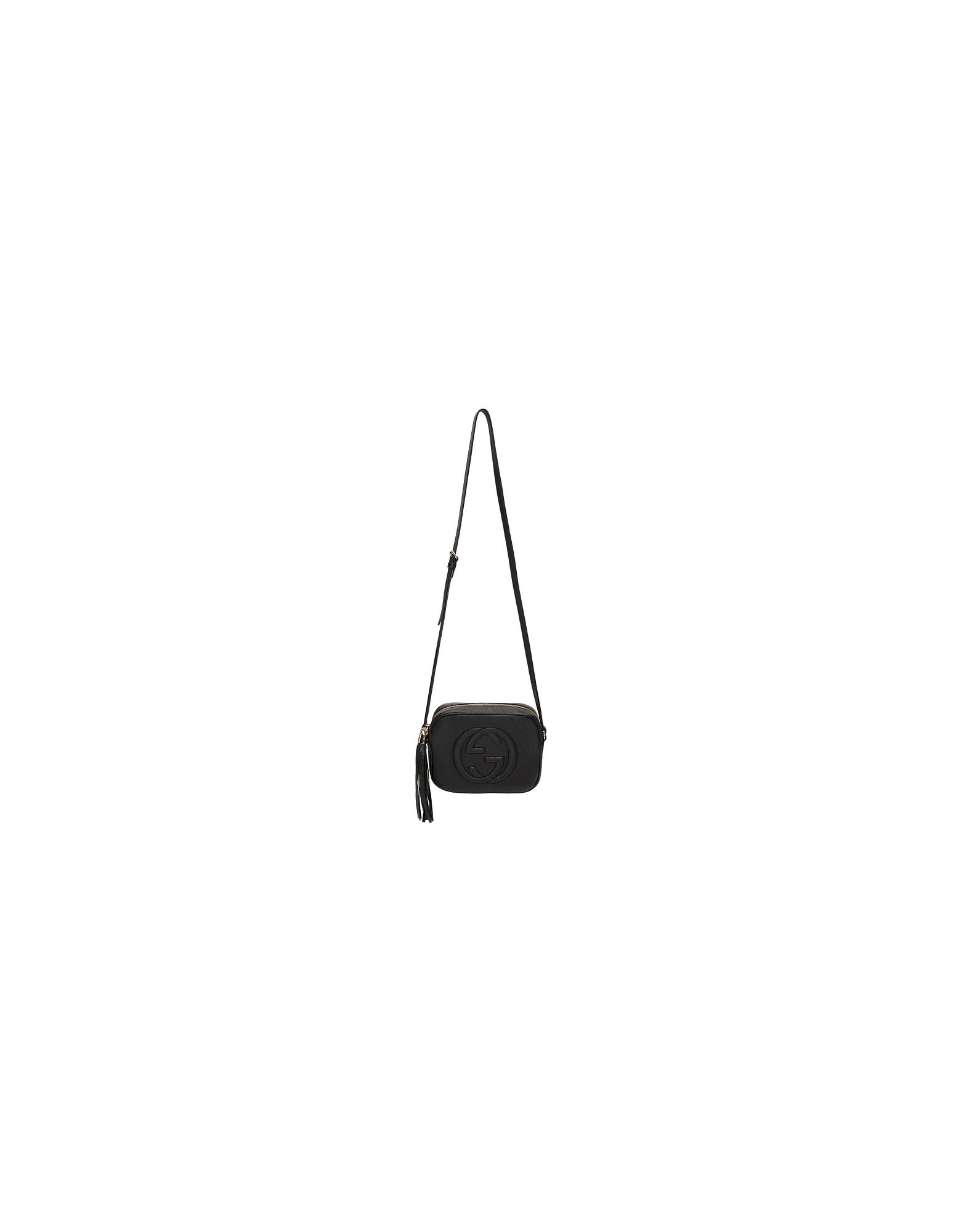 Gucci Designer Handbags, Black Small Soho Camera Bag