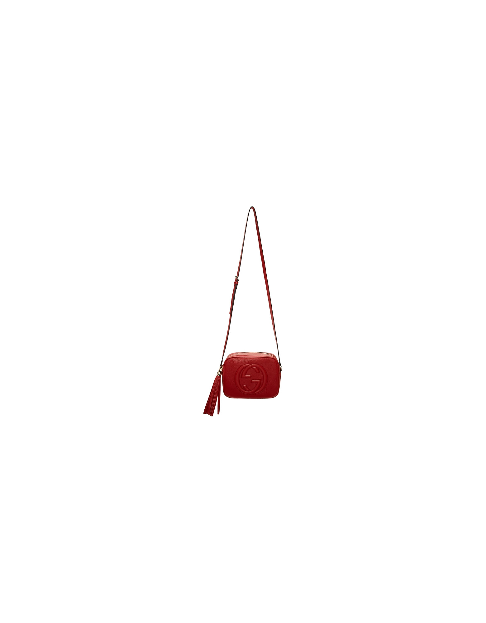 Gucci Designer Handbags, Red Small Soho Camera Bag