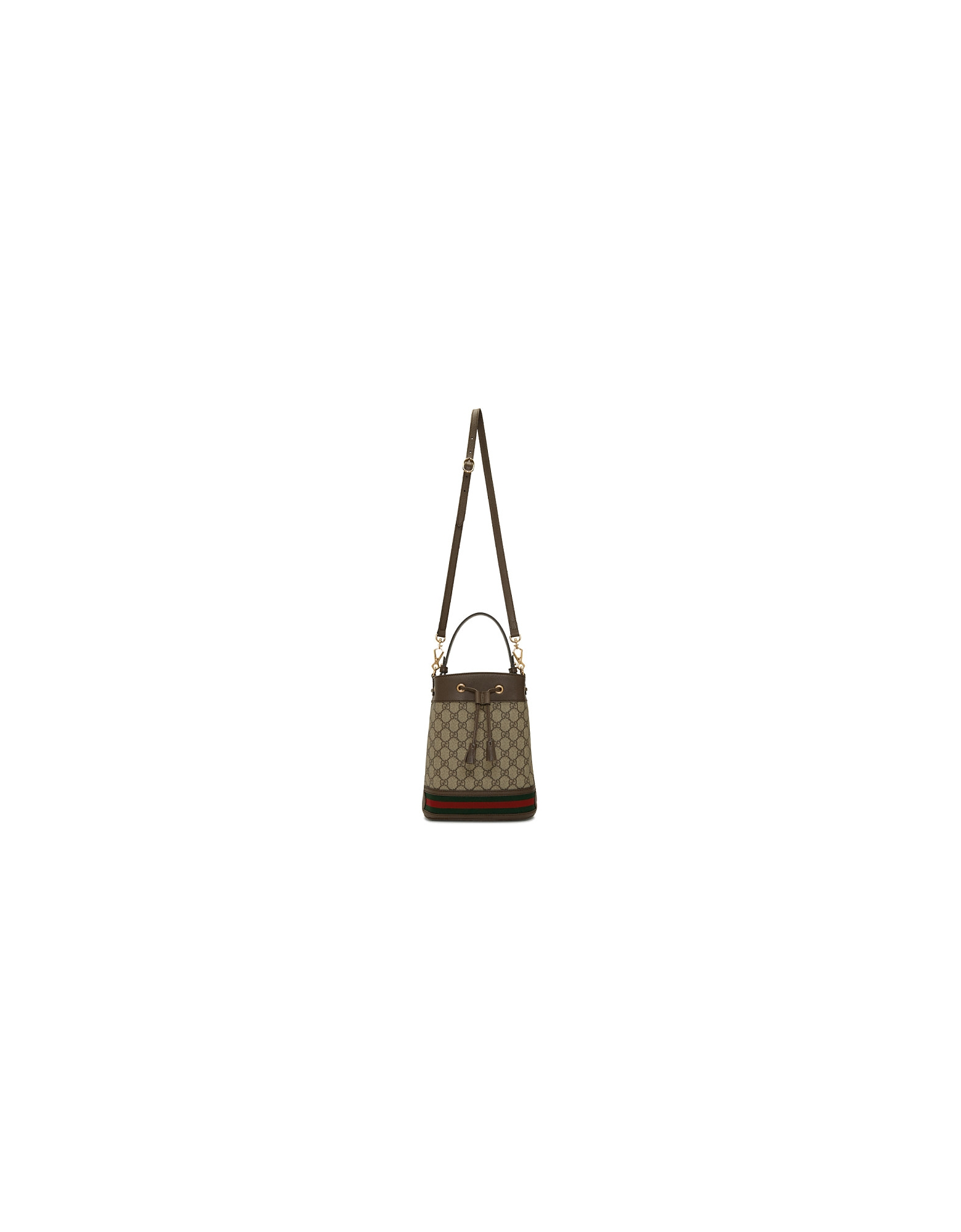 Gucci Designer Handbags, Beige GG Supreme Small Ophidia GG Bucket Bag
