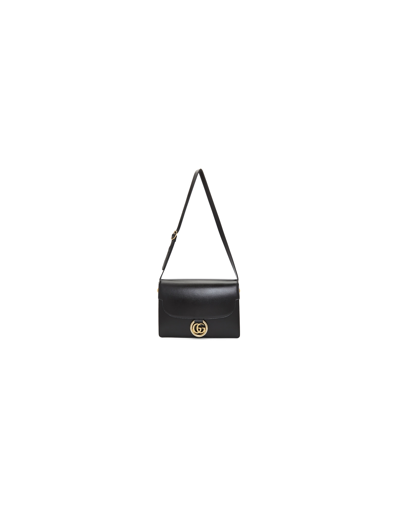 Gucci Designer Handbags, Black GG Ring Bag