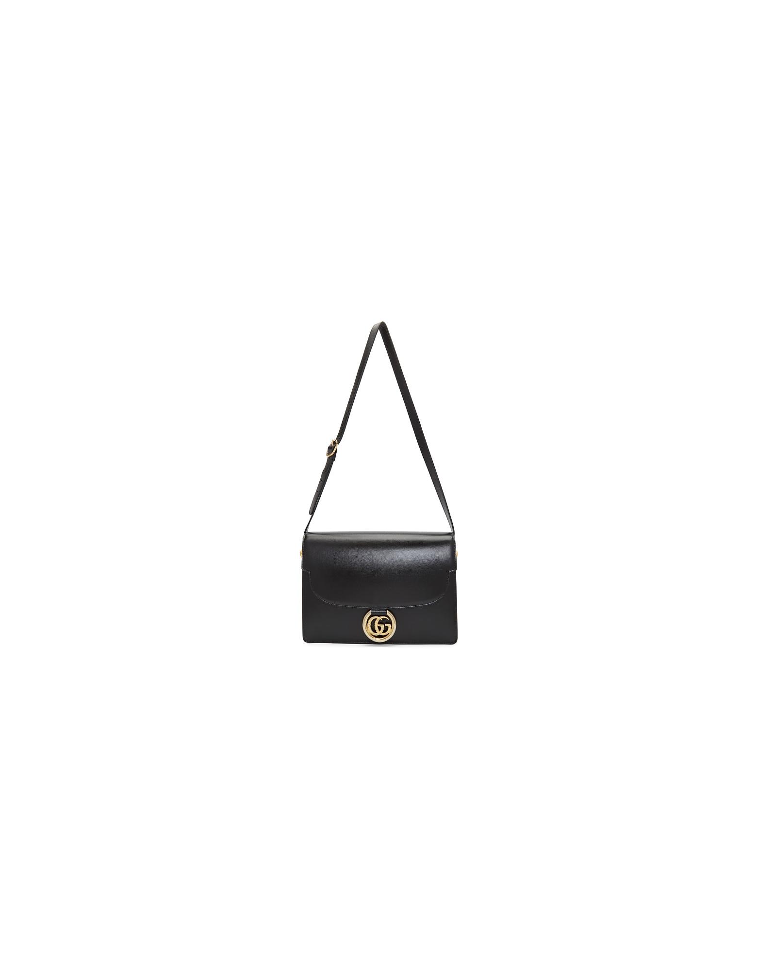 Gucci Designer Handbags, Black GG Ring Bag
