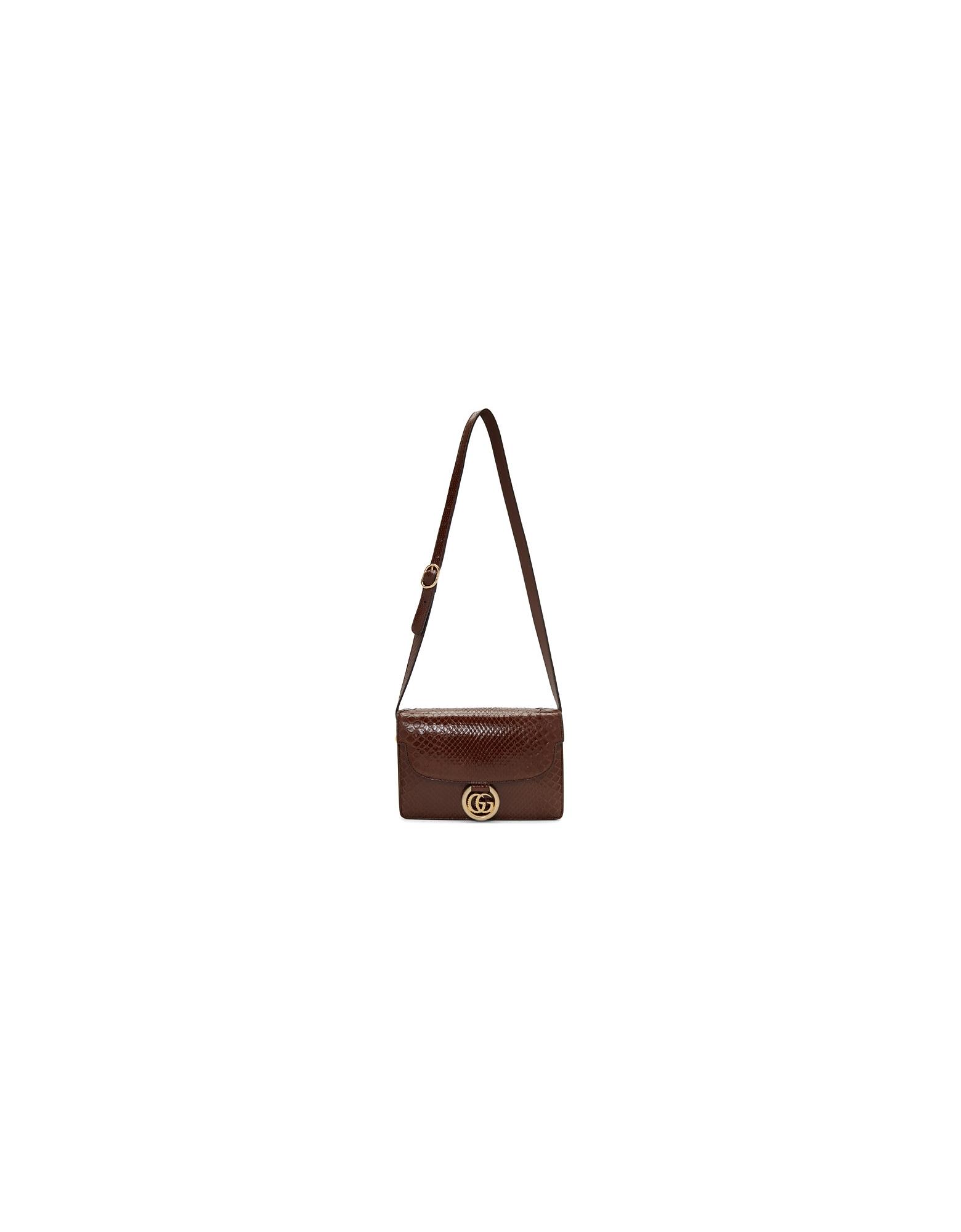 Gucci Designer Handbags, Brown Small Snake GG Ring Bag