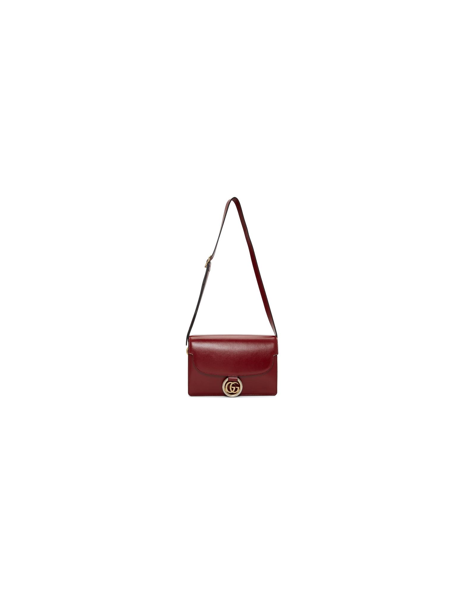 Gucci Designer Handbags, Red Small GG Ring Shoulder Bag