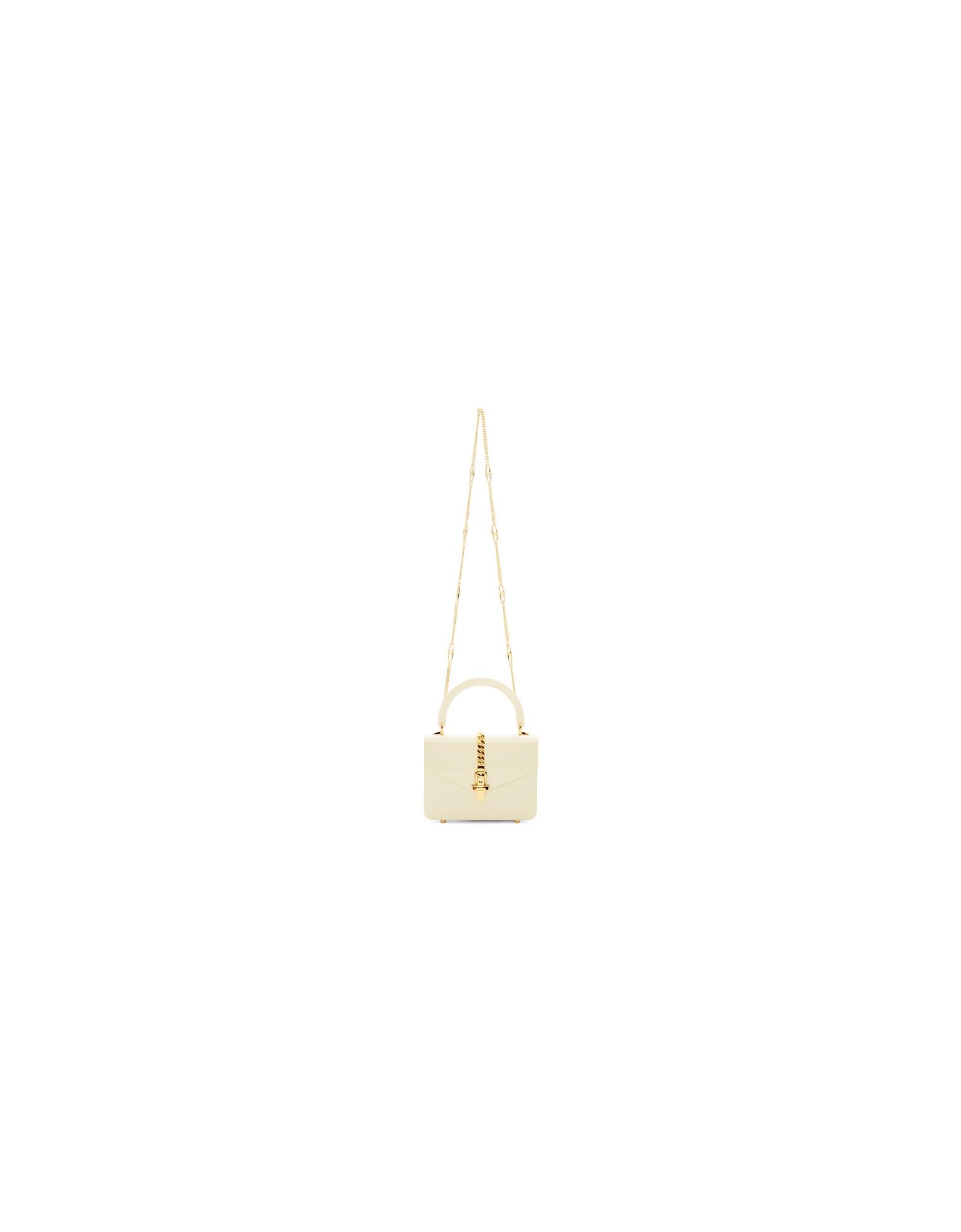Gucci Designer Handbags, White Plexiglass Mini Sylvie Top Handle Bag