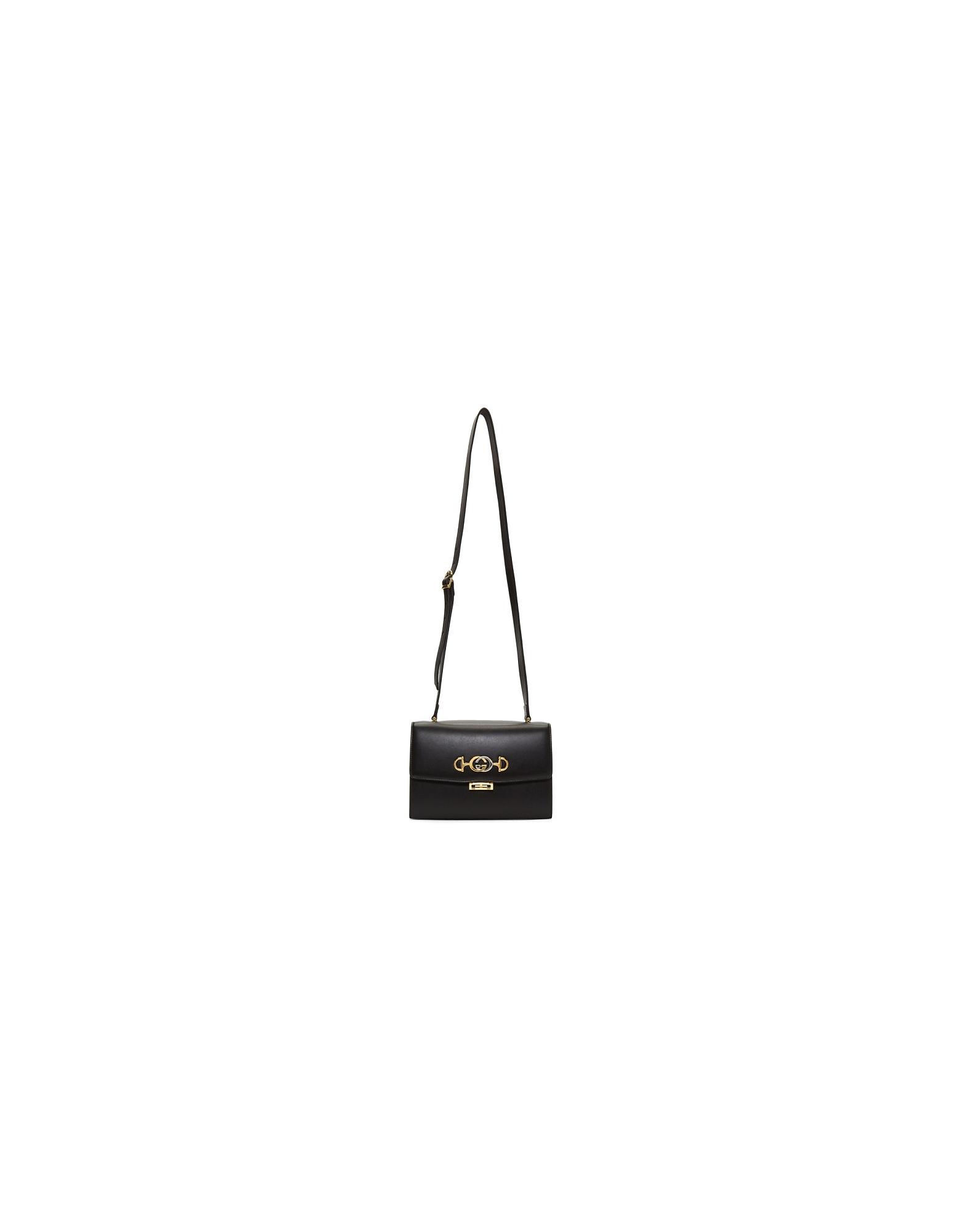 Gucci Designer Handbags, Black Zumi Shoulder Bag
