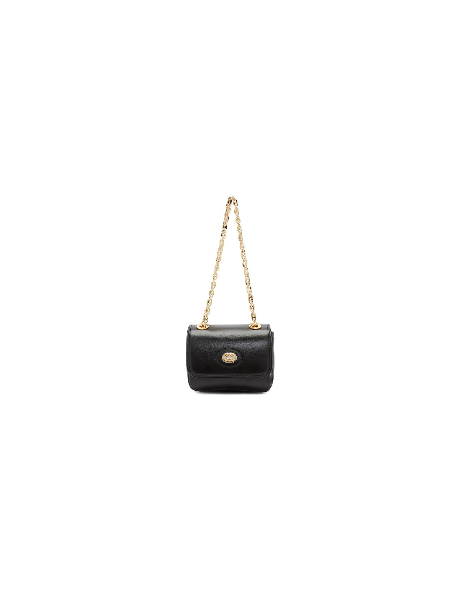 Gucci Designer Handbags, Black Marina Bag