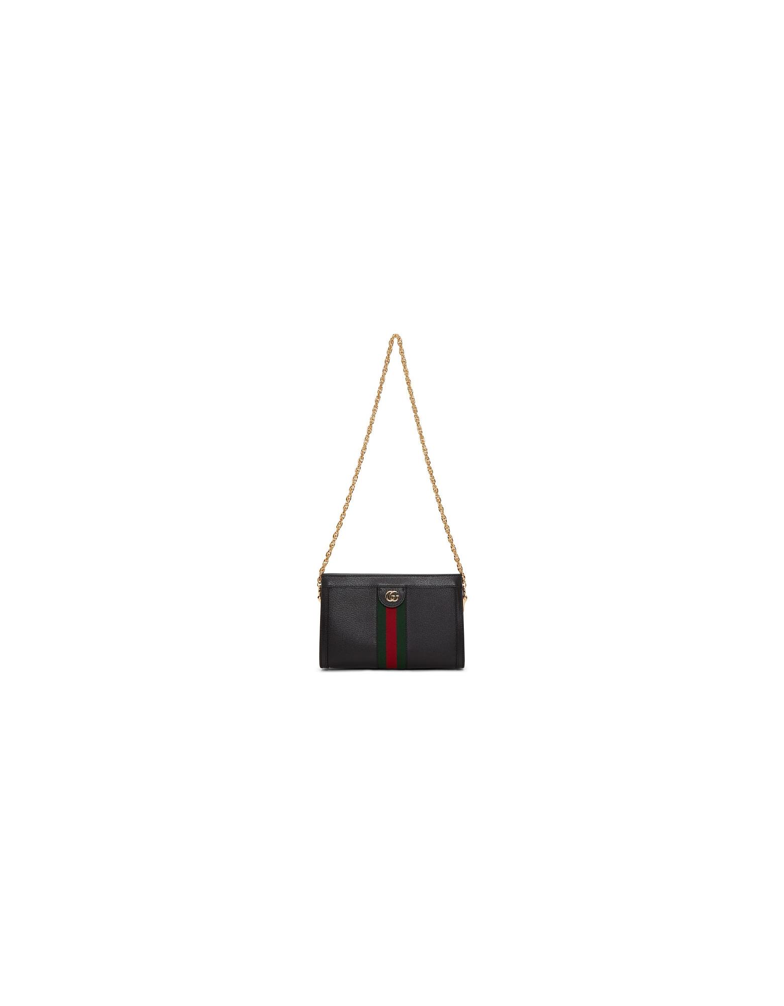 Gucci Designer Handbags, Black Small Ophidia Shoulder Bag