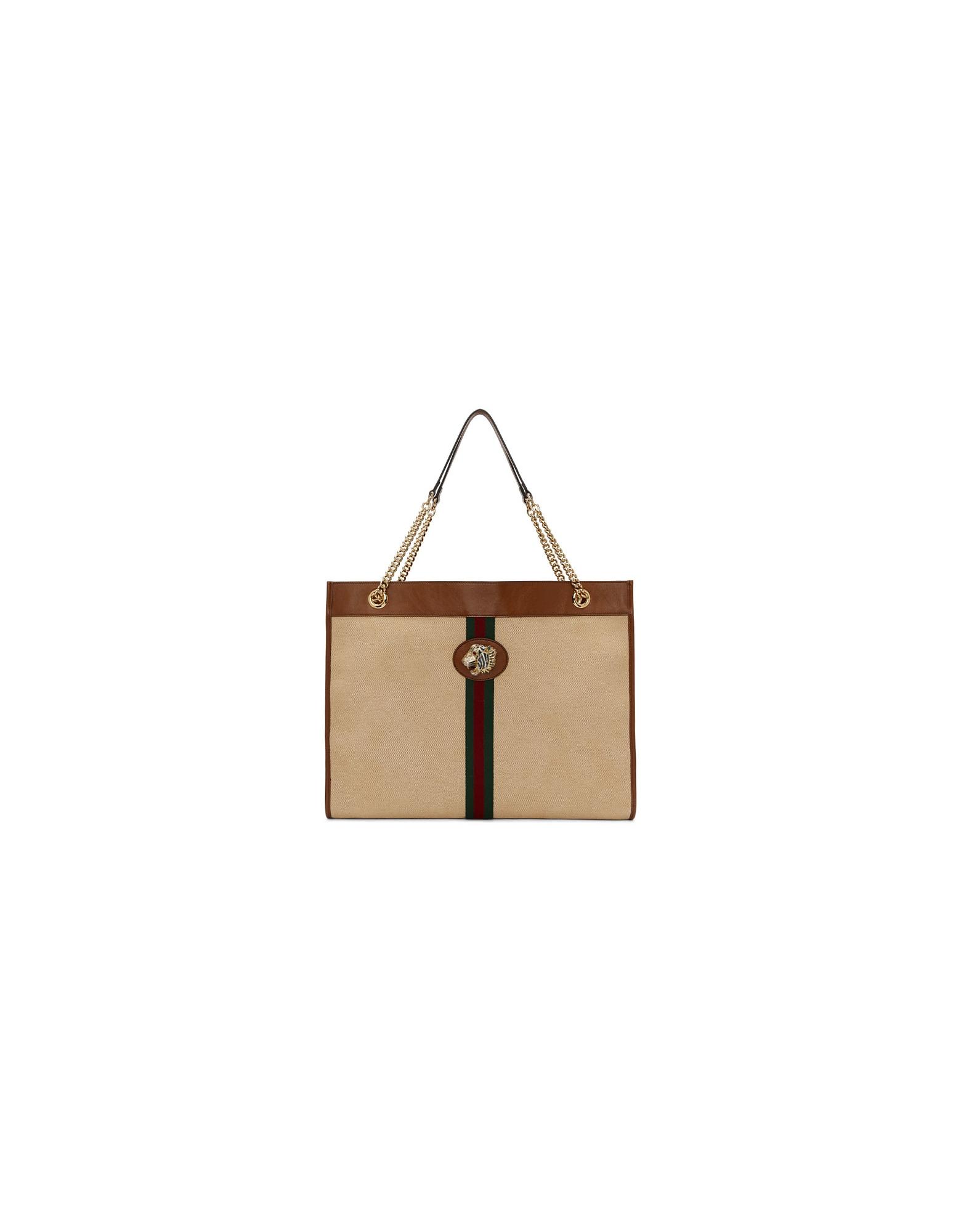 Gucci Designer Handbags, Beige Large Rajah Tote