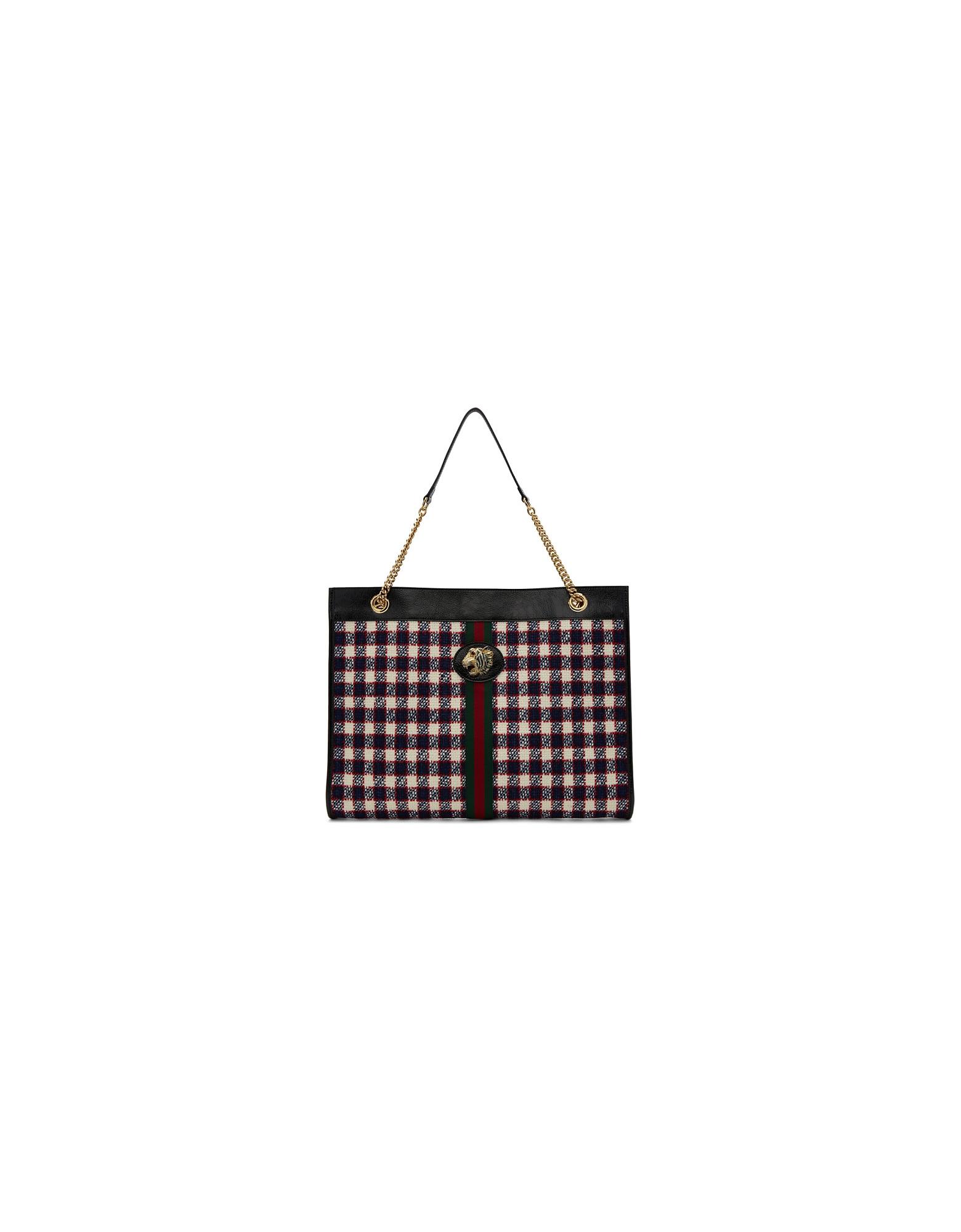 Gucci Designer Handbags, Multicolor Rajah Tote